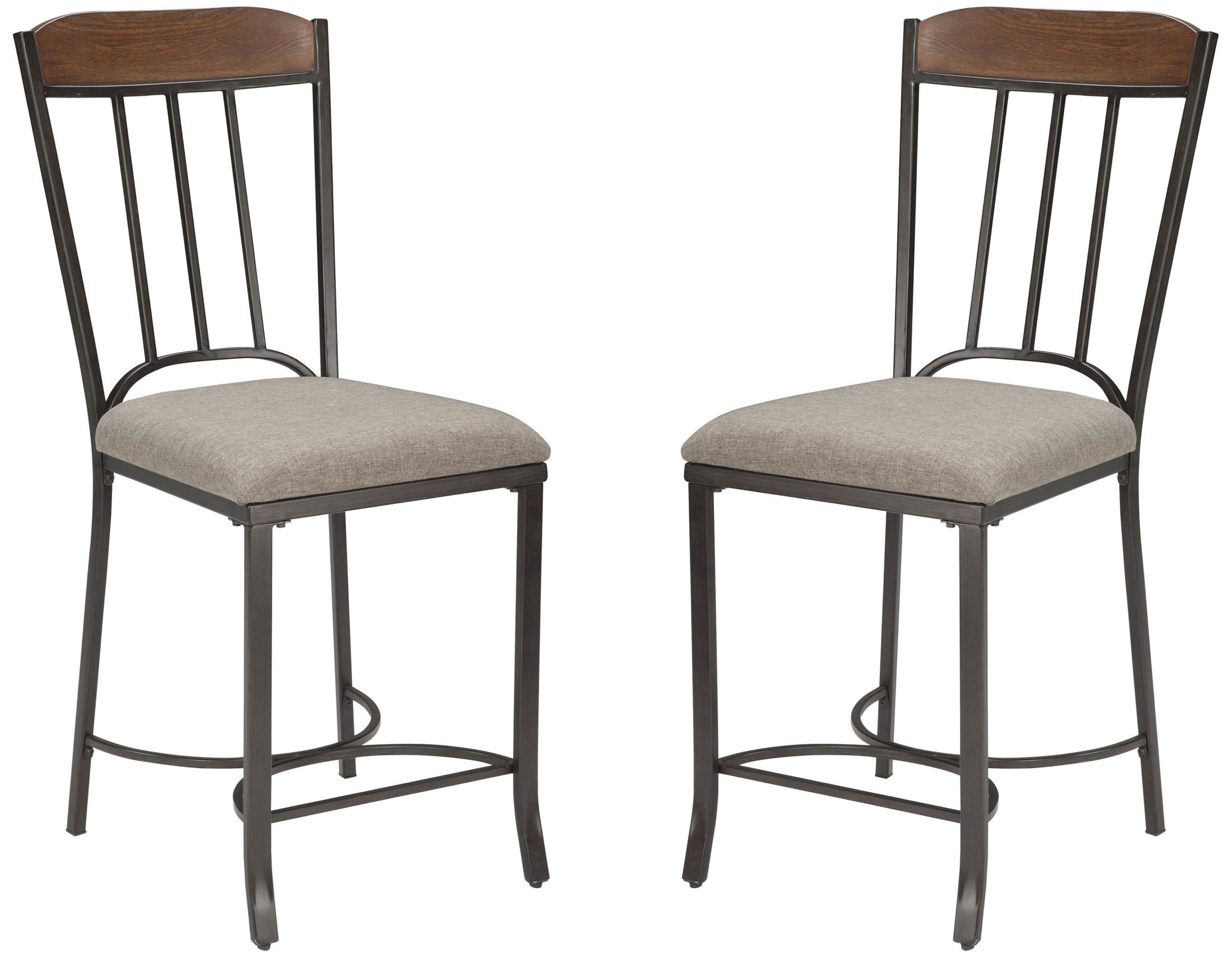 Zanilly Two Tone Upholstered Barstool Set Of 2 From Ashley