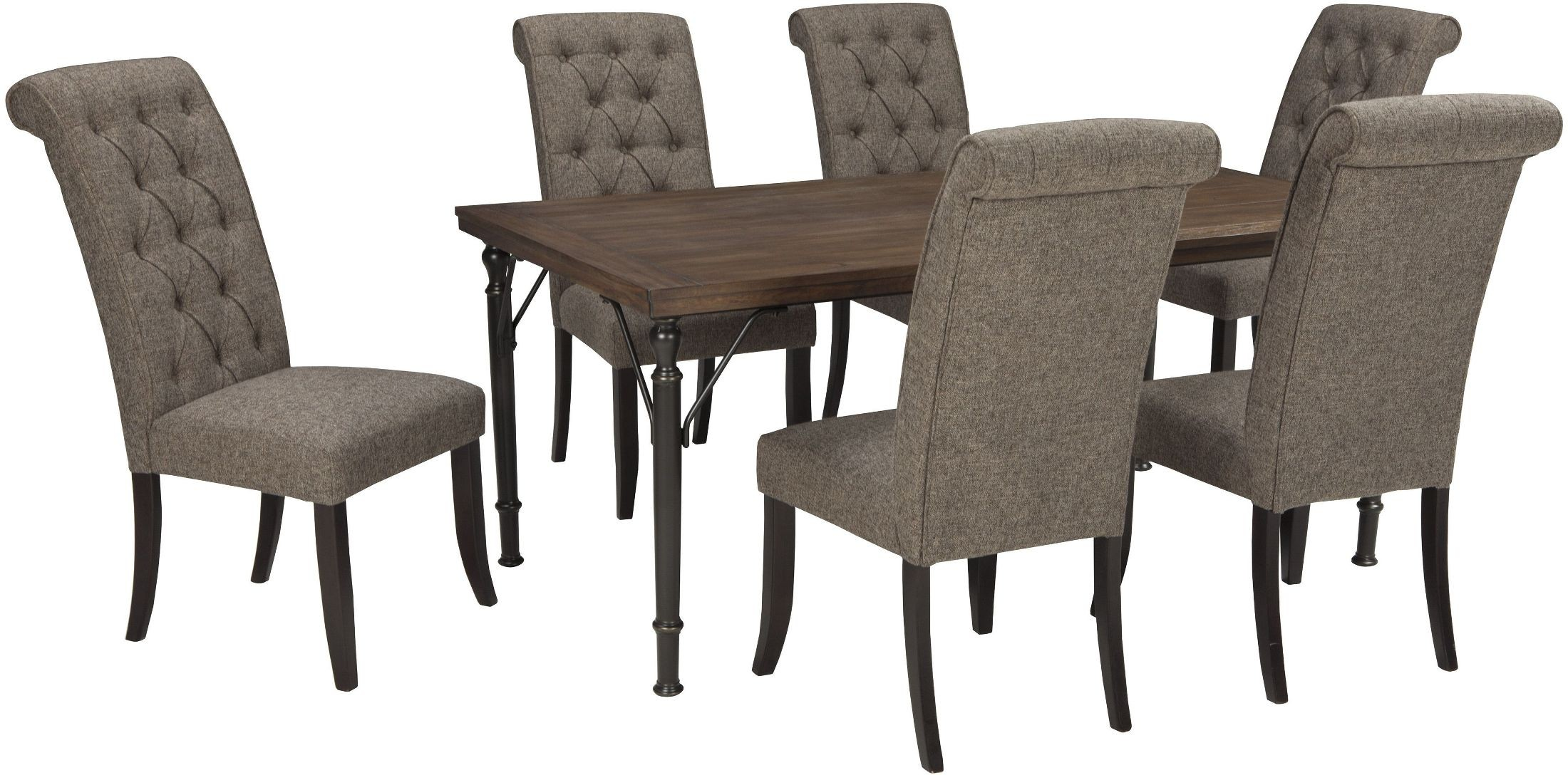 Tripton Graphite Upholstered Side Chair Set of 2 from  : d530 25 026 sw11 from colemanfurniture.com size 2200 x 1088 jpeg 390kB