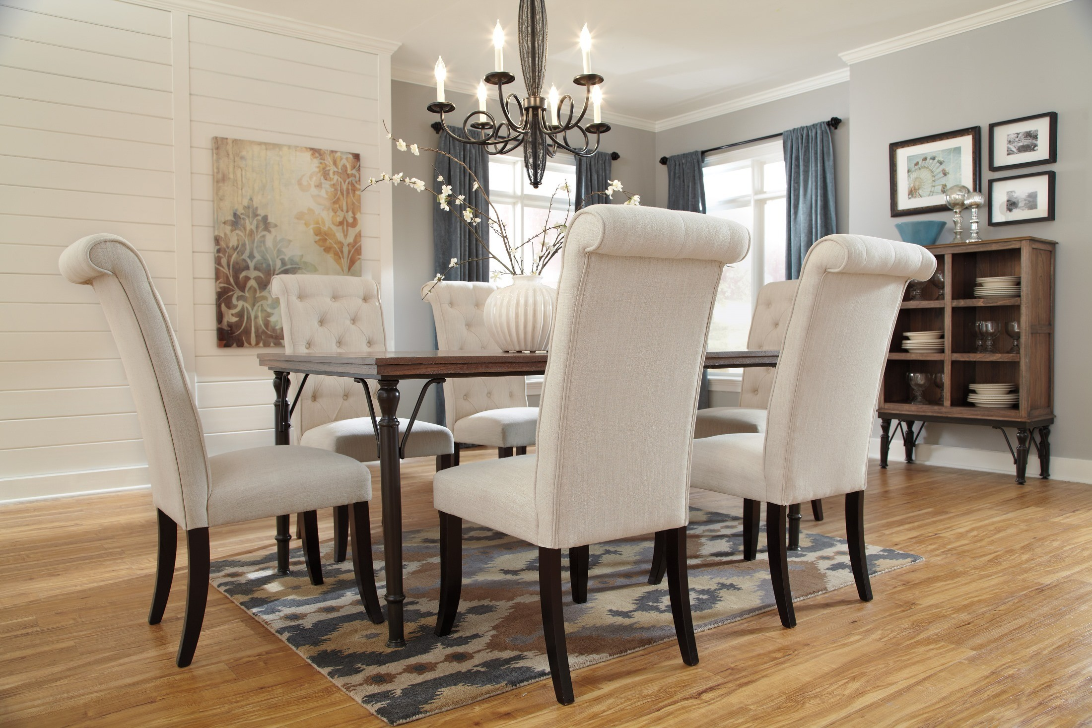 Tripton Dining Upholstered Side Chair Set of 2 from Ashley  : d530 25 mood b from colemanfurniture.com size 2200 x 1467 jpeg 654kB