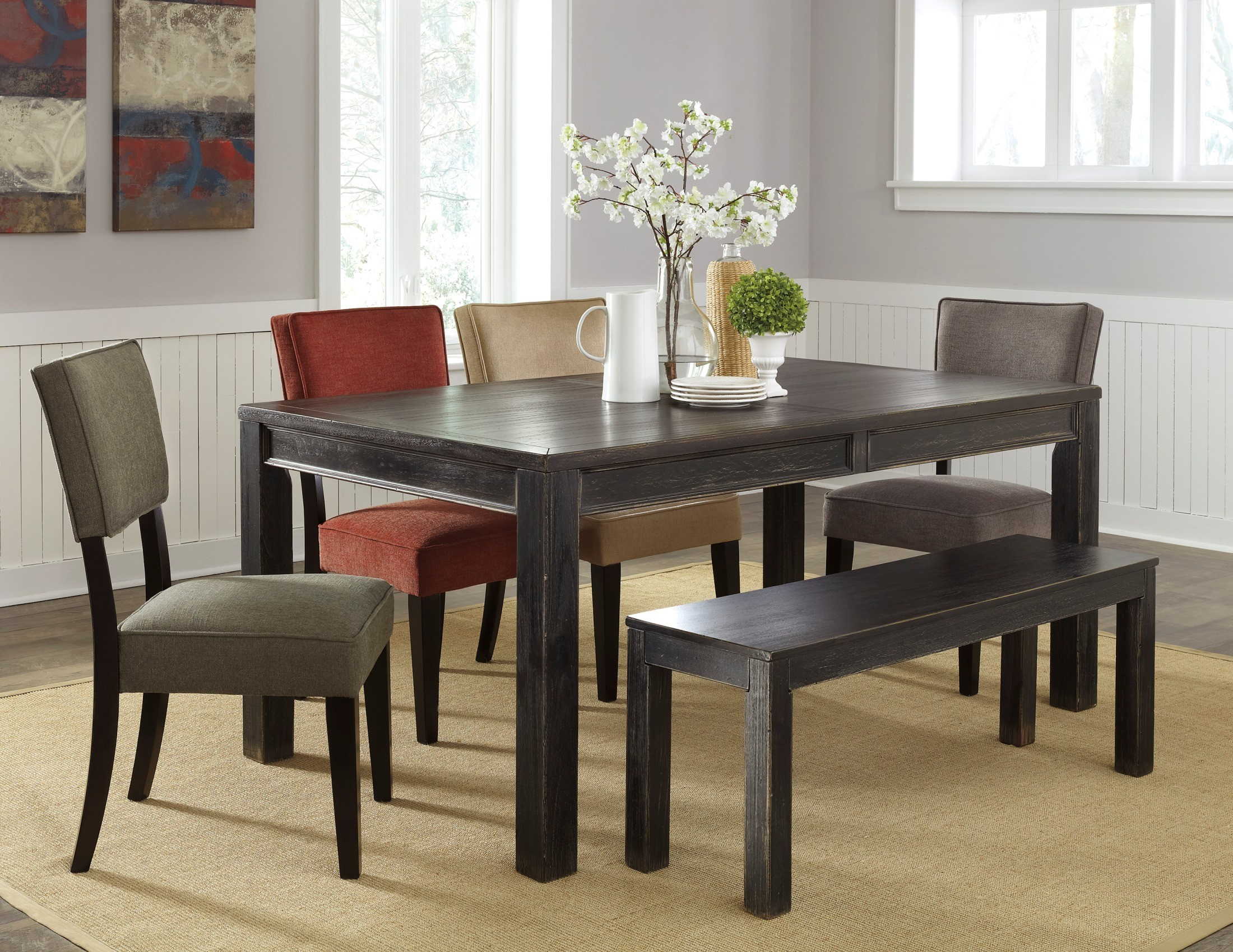Gavelston Rectangular Dining Room Table from Ashley (D532-25) | Coleman Furniture