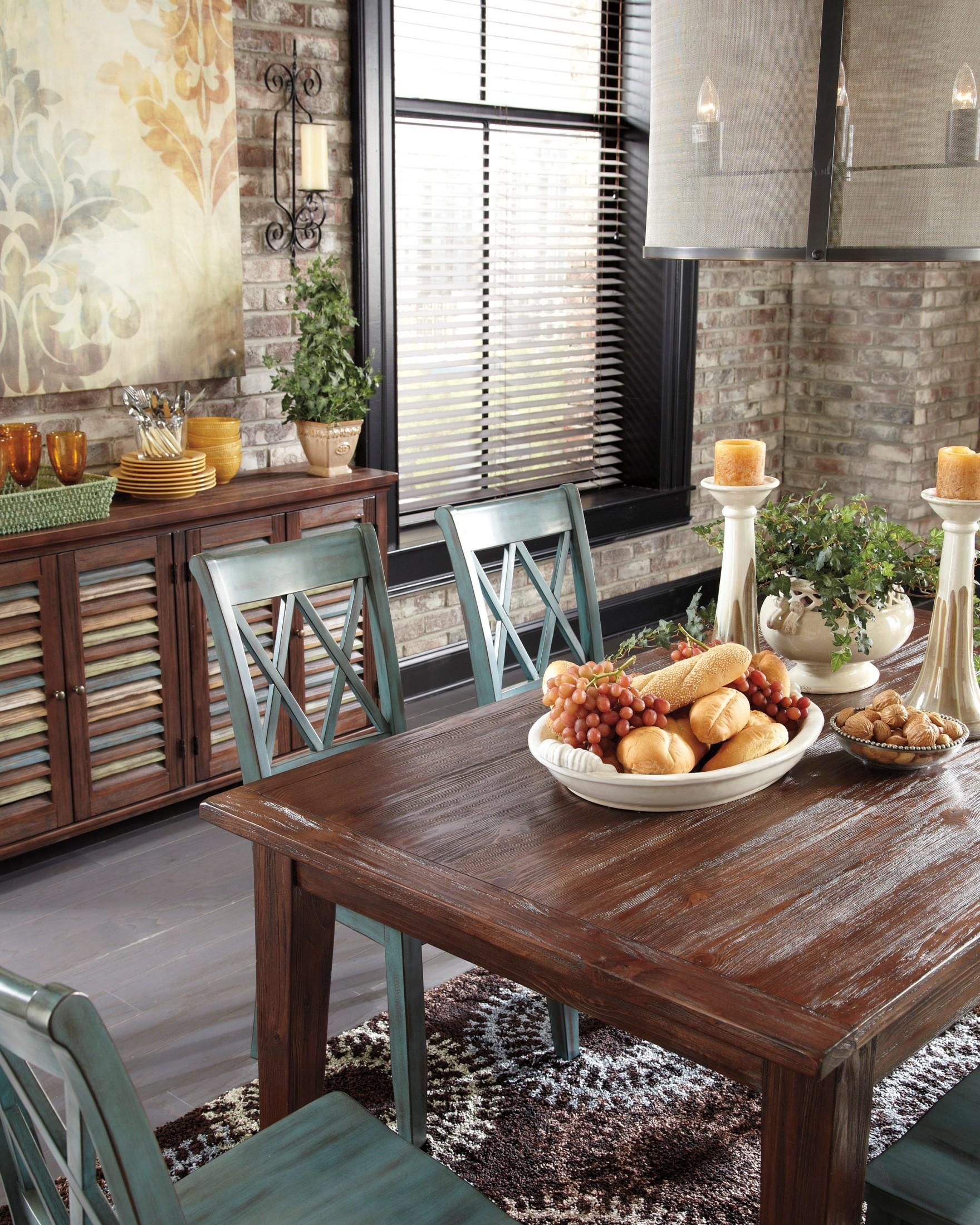 Mestler Dark Brown Dining Room Set From Ashley D540 125