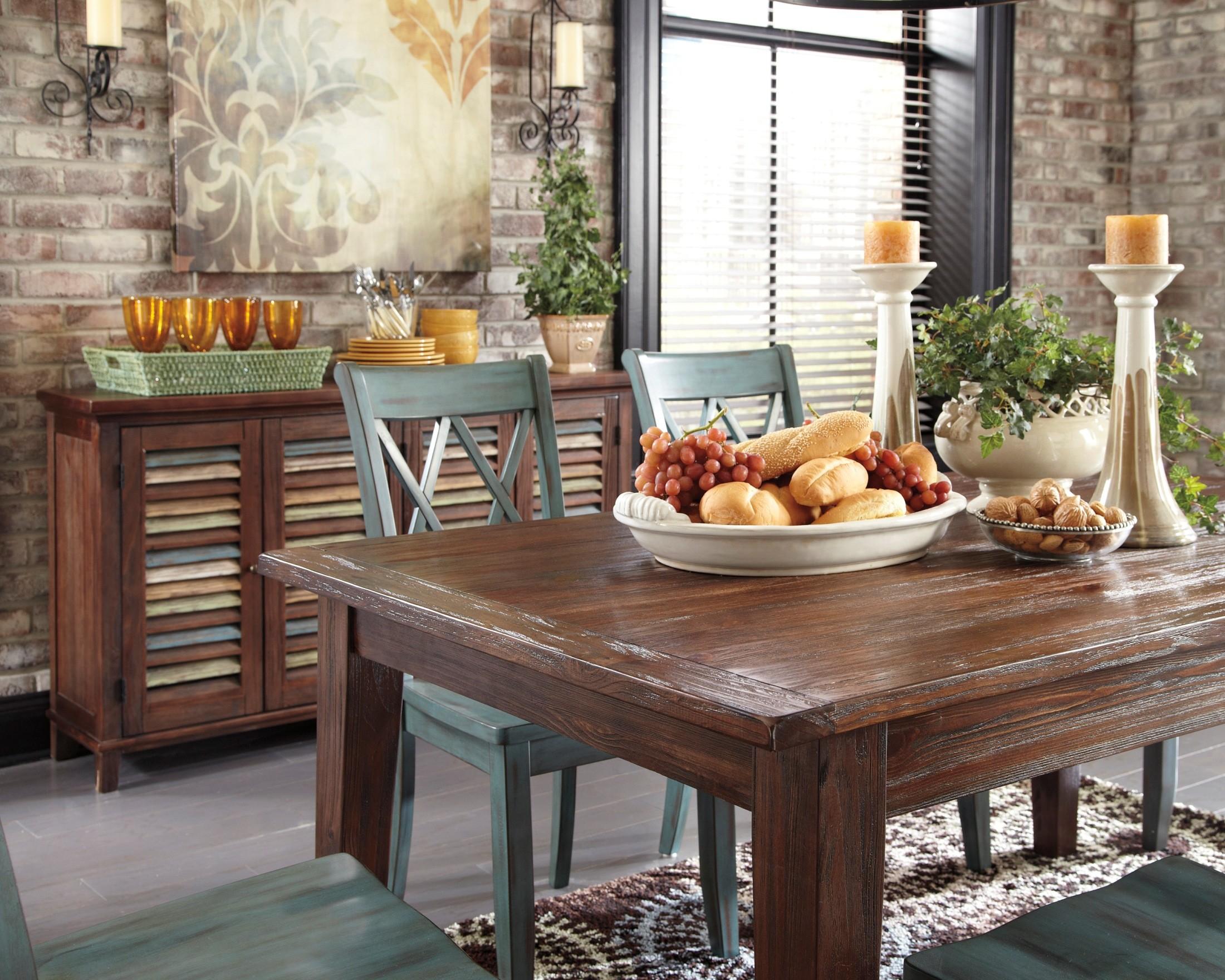 Mestler Dark Brown Dining Room Set From Ashley (D540-125