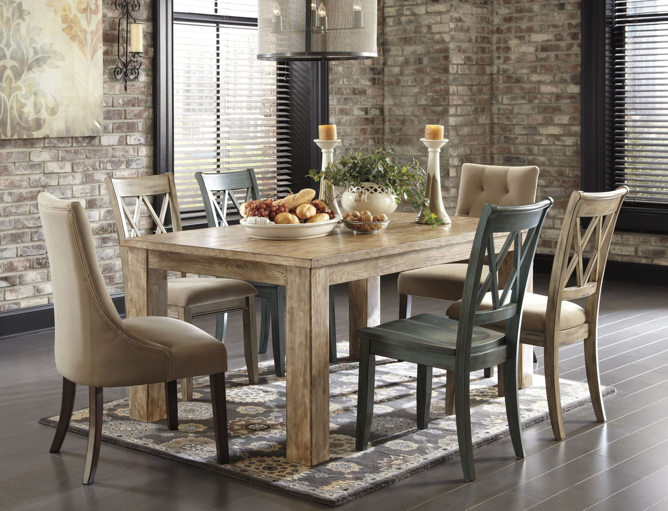 Mestler Driftwood Dining Room Set From Ashley D540 225
