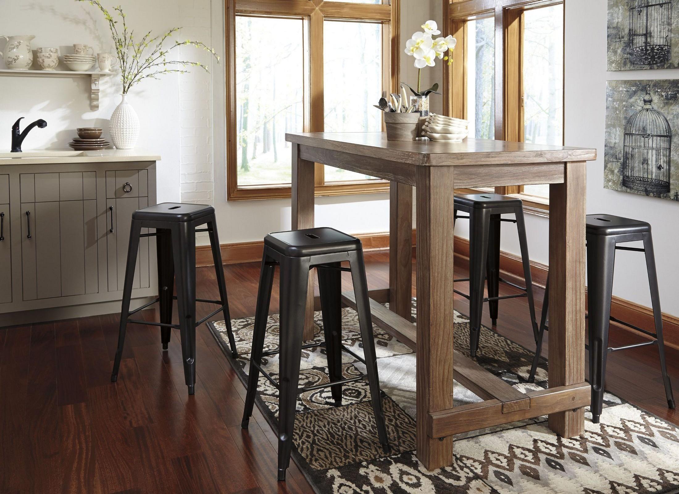 Pinnadel Bar Set From Ashley D542 12 Coleman Furniture