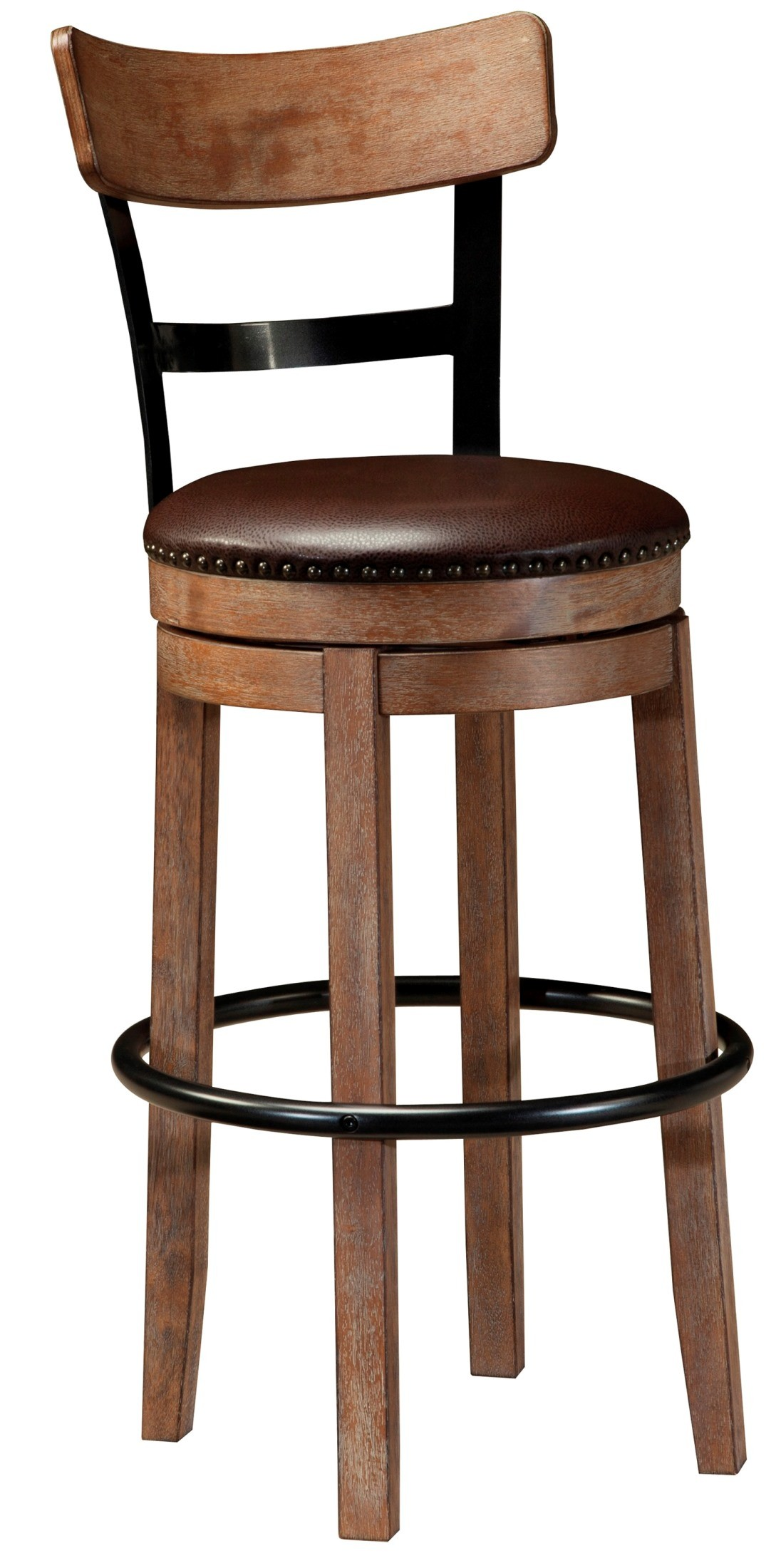 Pinnadel Tall Upholstered Swivel Barstool From Ashley