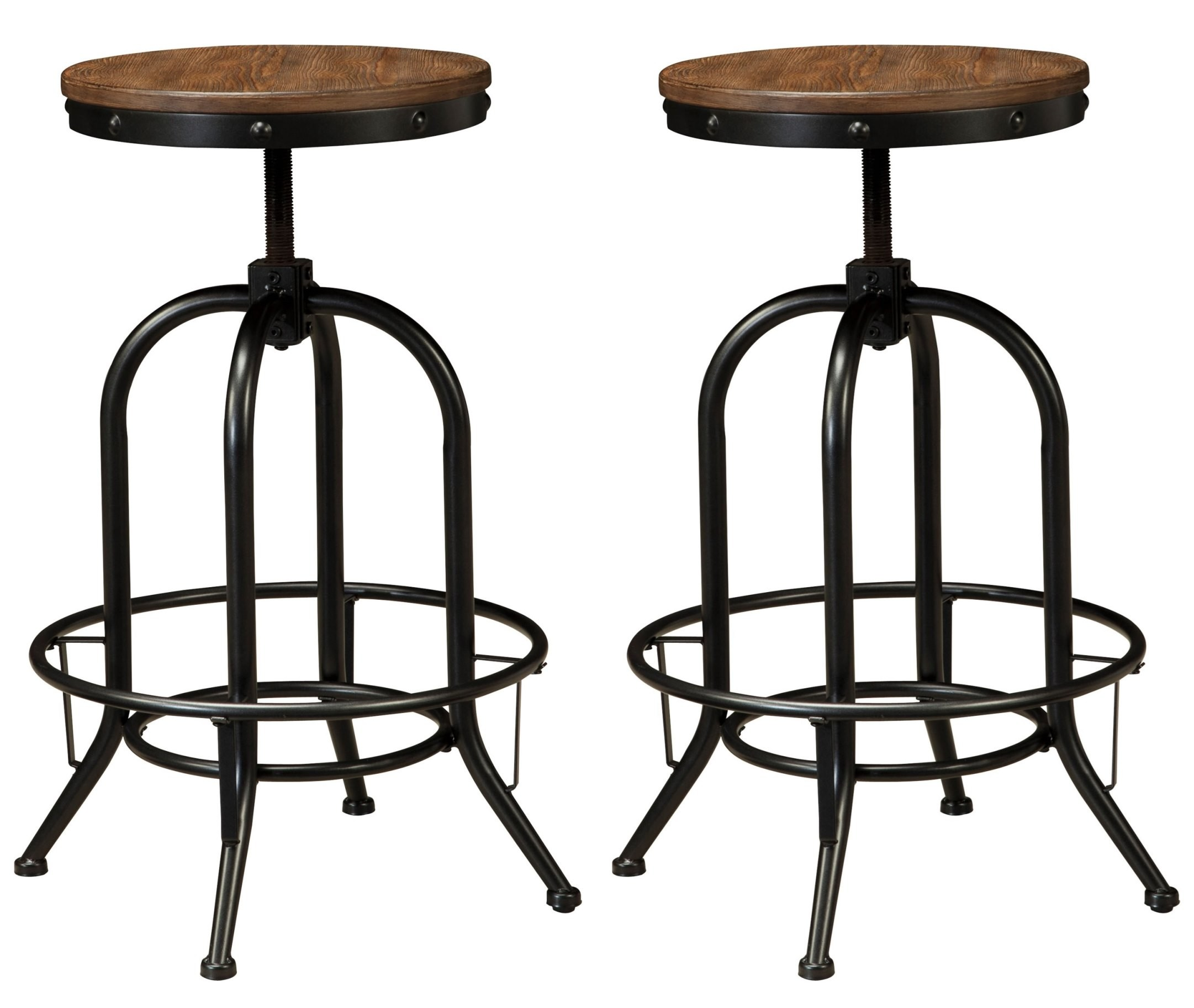 Pinnadel Tall Swivel Stool Set Of 2 From Ashley D542 230