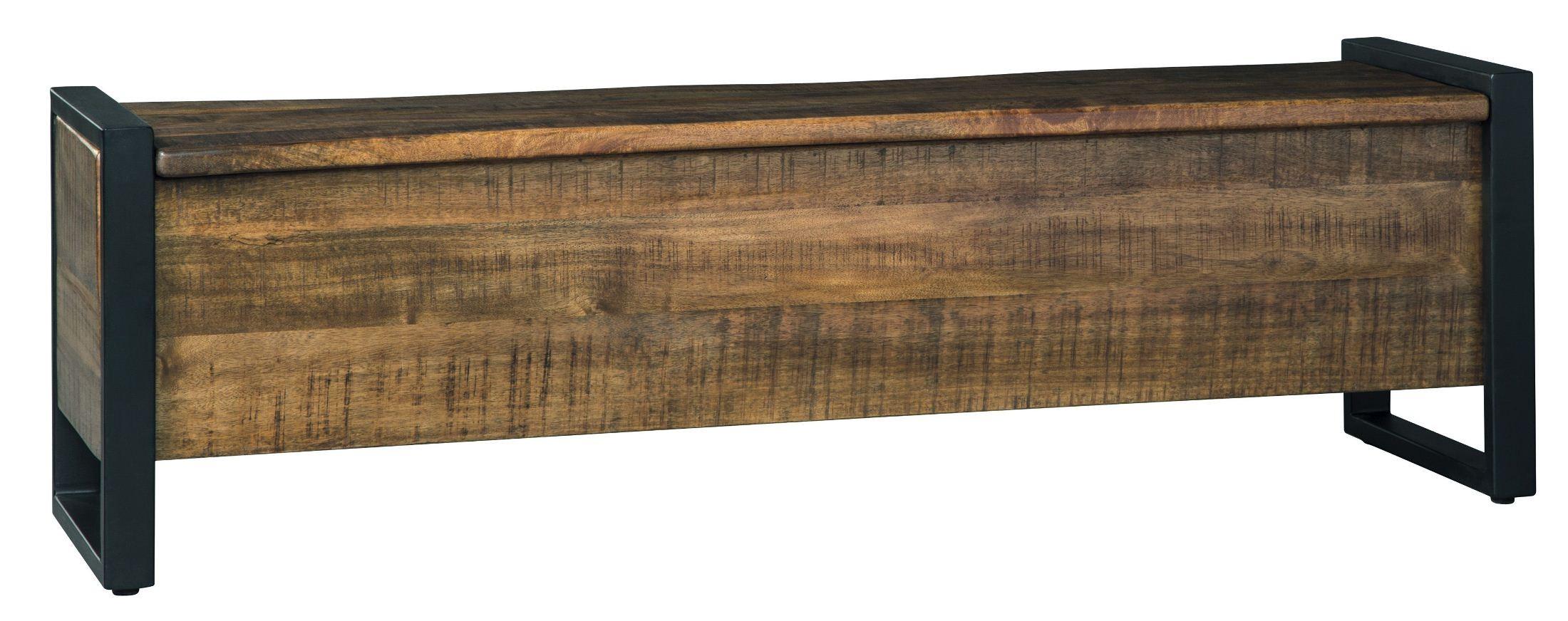 Glosco Light Brown Storage Bench From Ashley Coleman Furniture