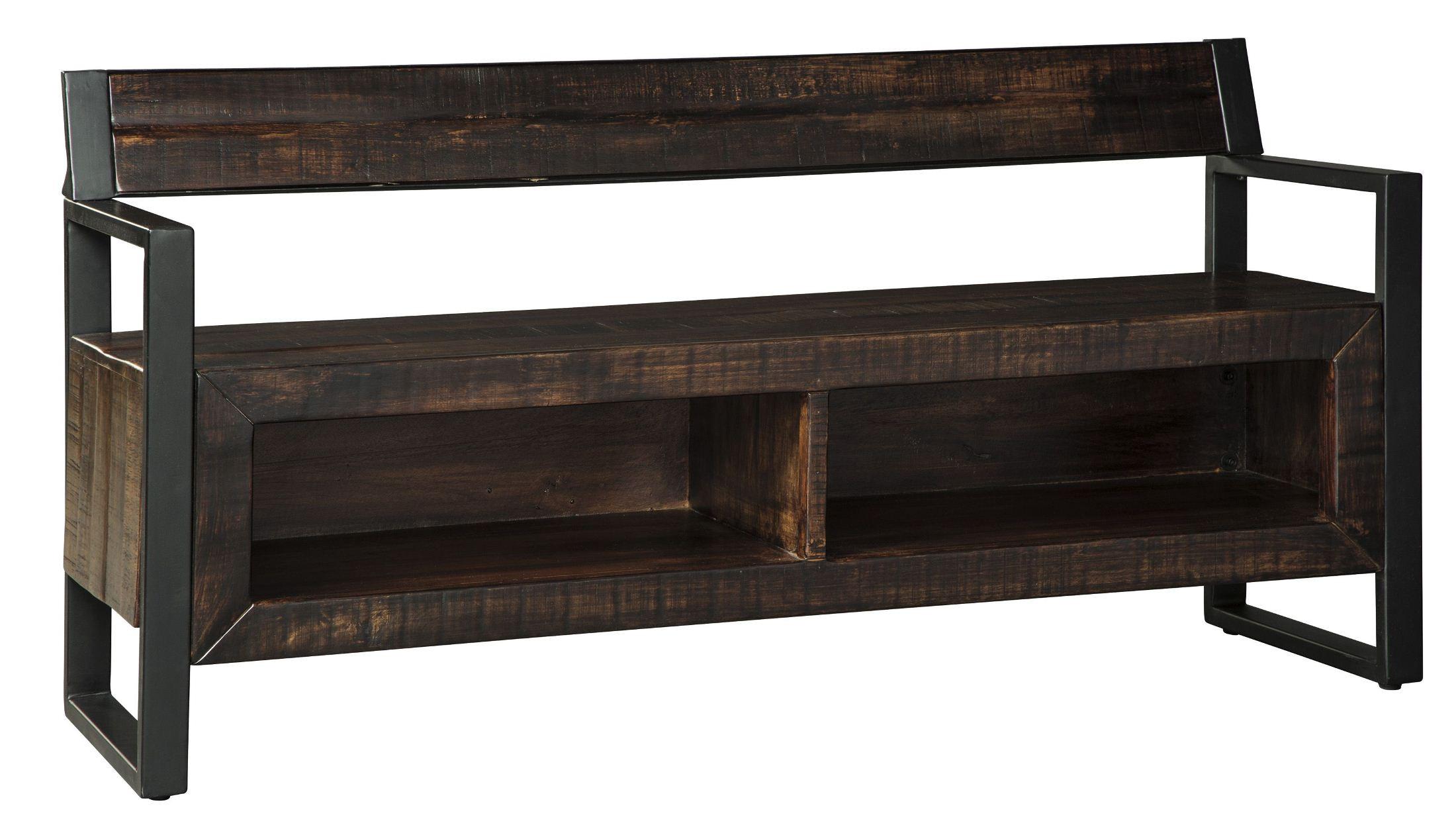 Glosco Dark Brown Storage Bench From Ashley Coleman Furniture
