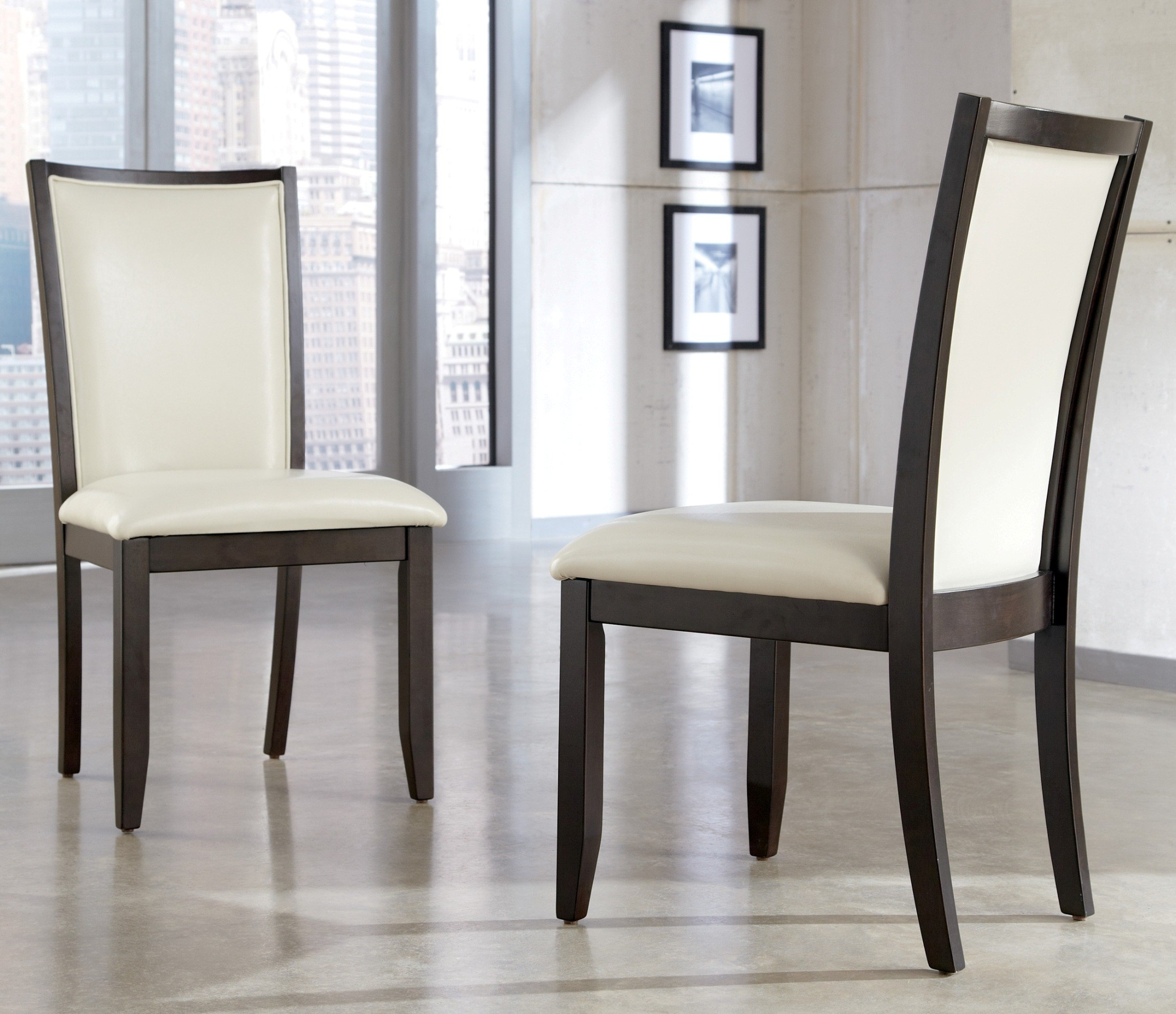 Cream Dining Set: Trishelle Dining Upholstered Cream Side Chair Set Of 2