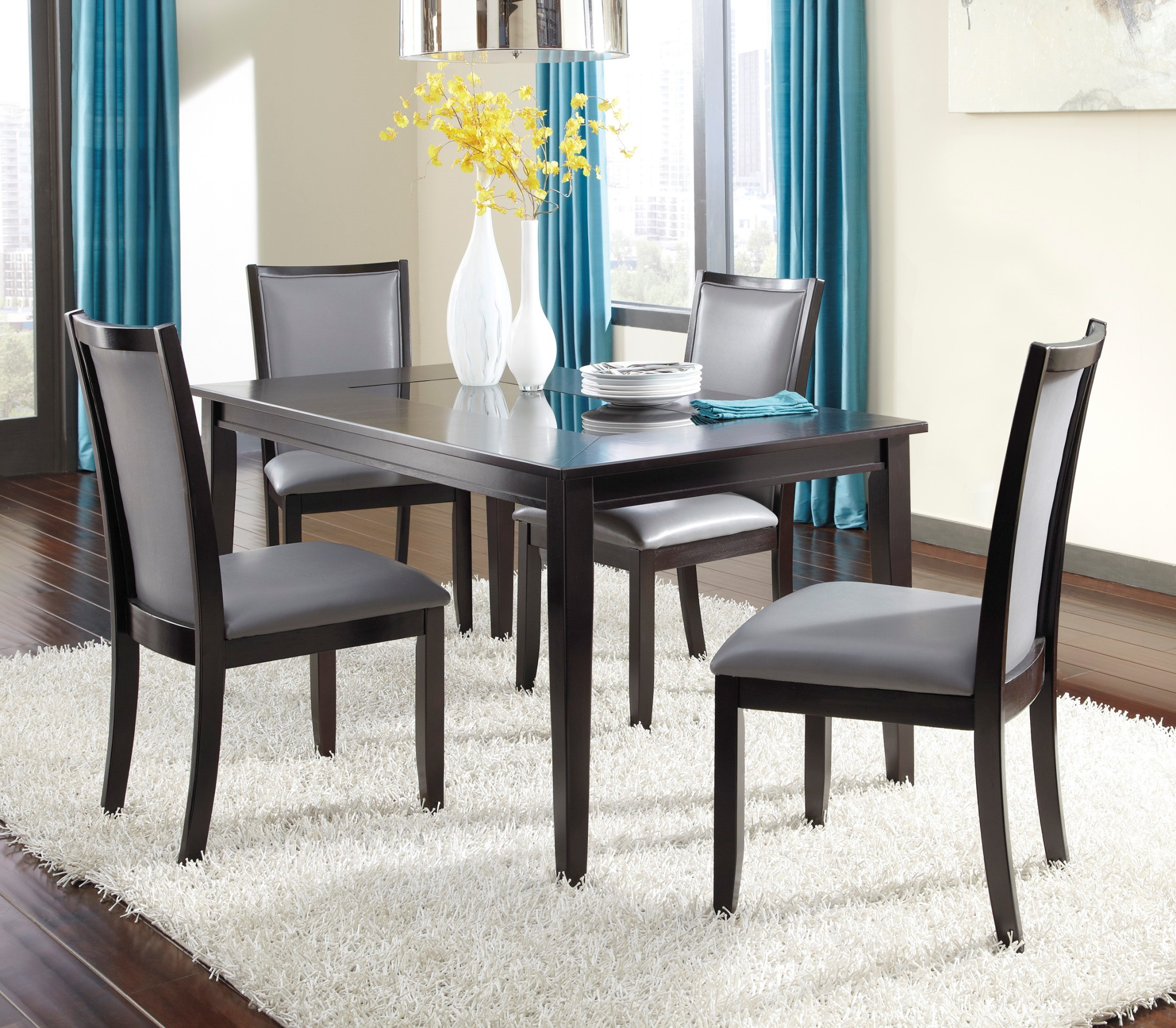 Dazzelton Dining Room Table: Trishelle Rectangular Dining Room Set From Ashley (D550-25