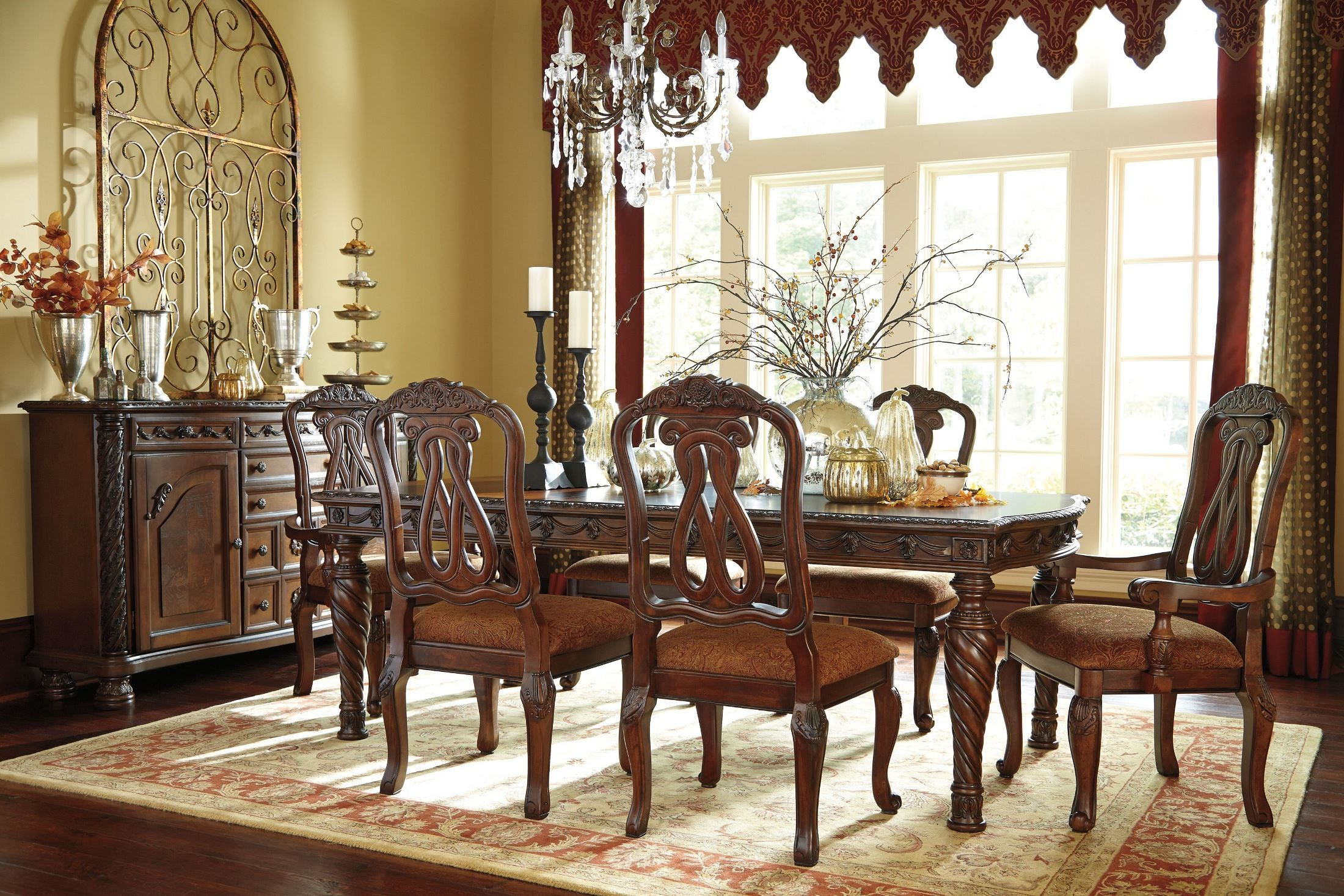 north shore rectangular extendable dining room set from ashley