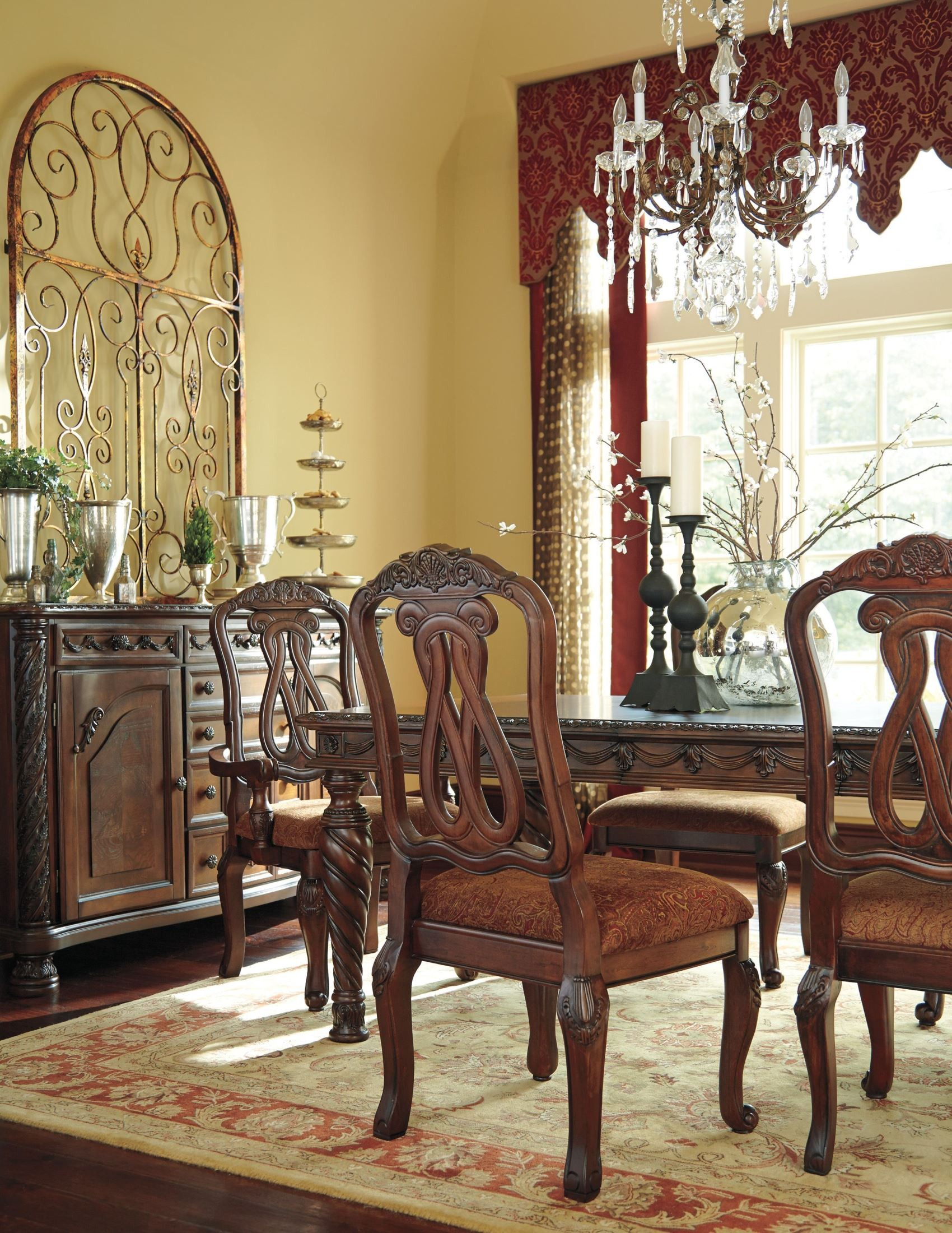 North Shore Rectangular Extendable Dining Room Set From Ashley (D553 35) |  Coleman Furniture