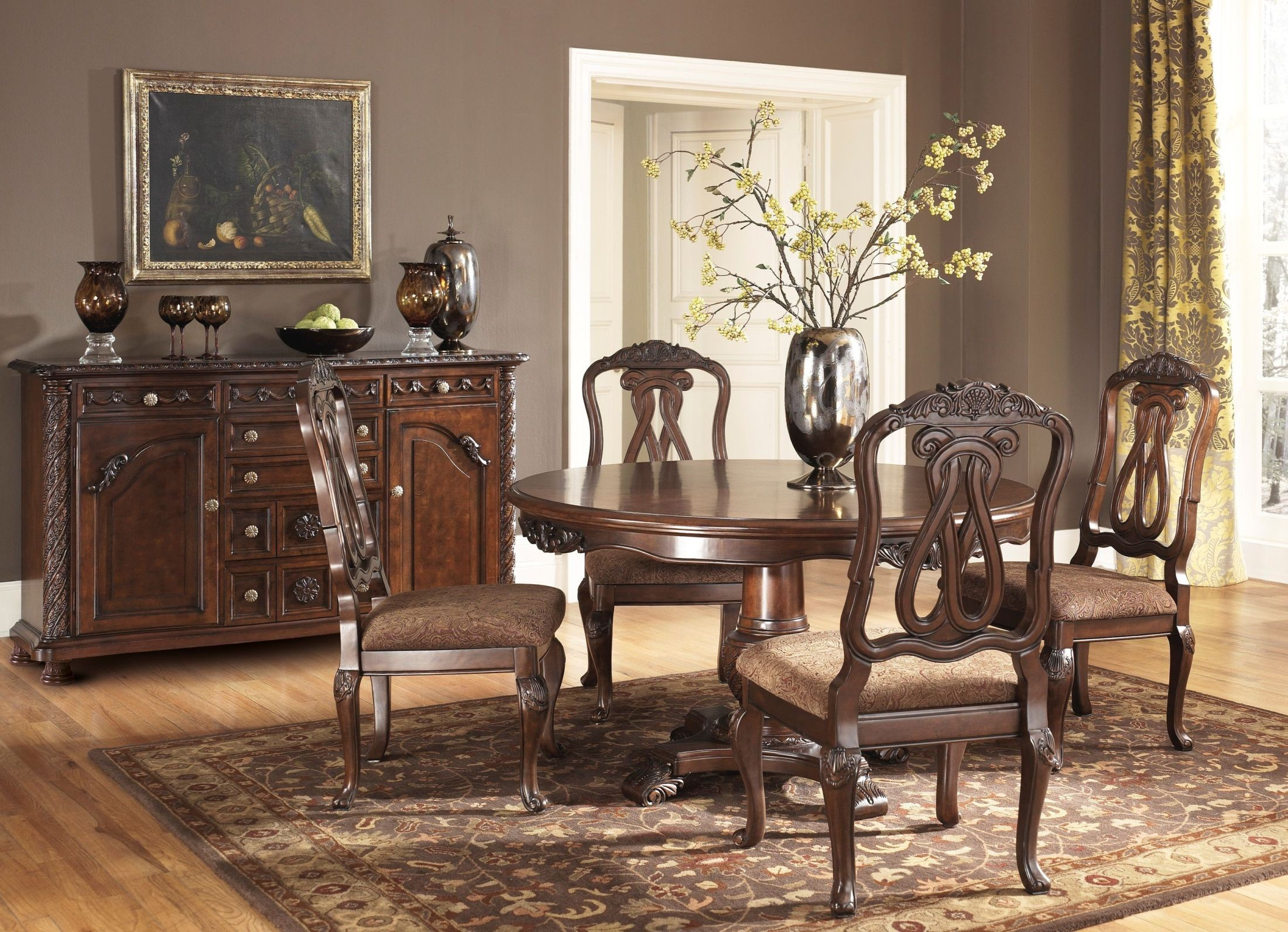 Ashley Furniture Dining Table 4 Chairs Photos