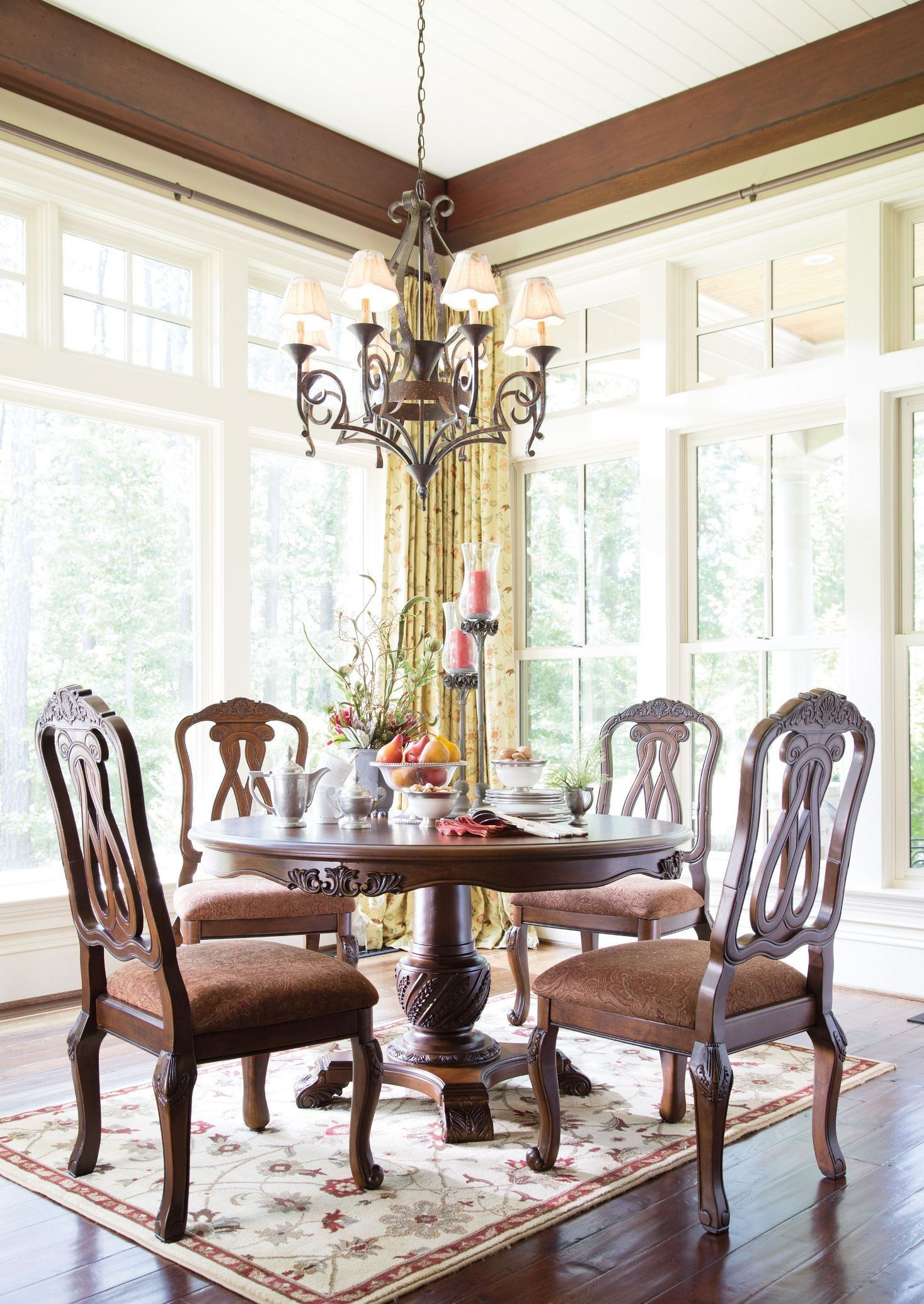north shore round pedestal dining room set from ashley | coleman