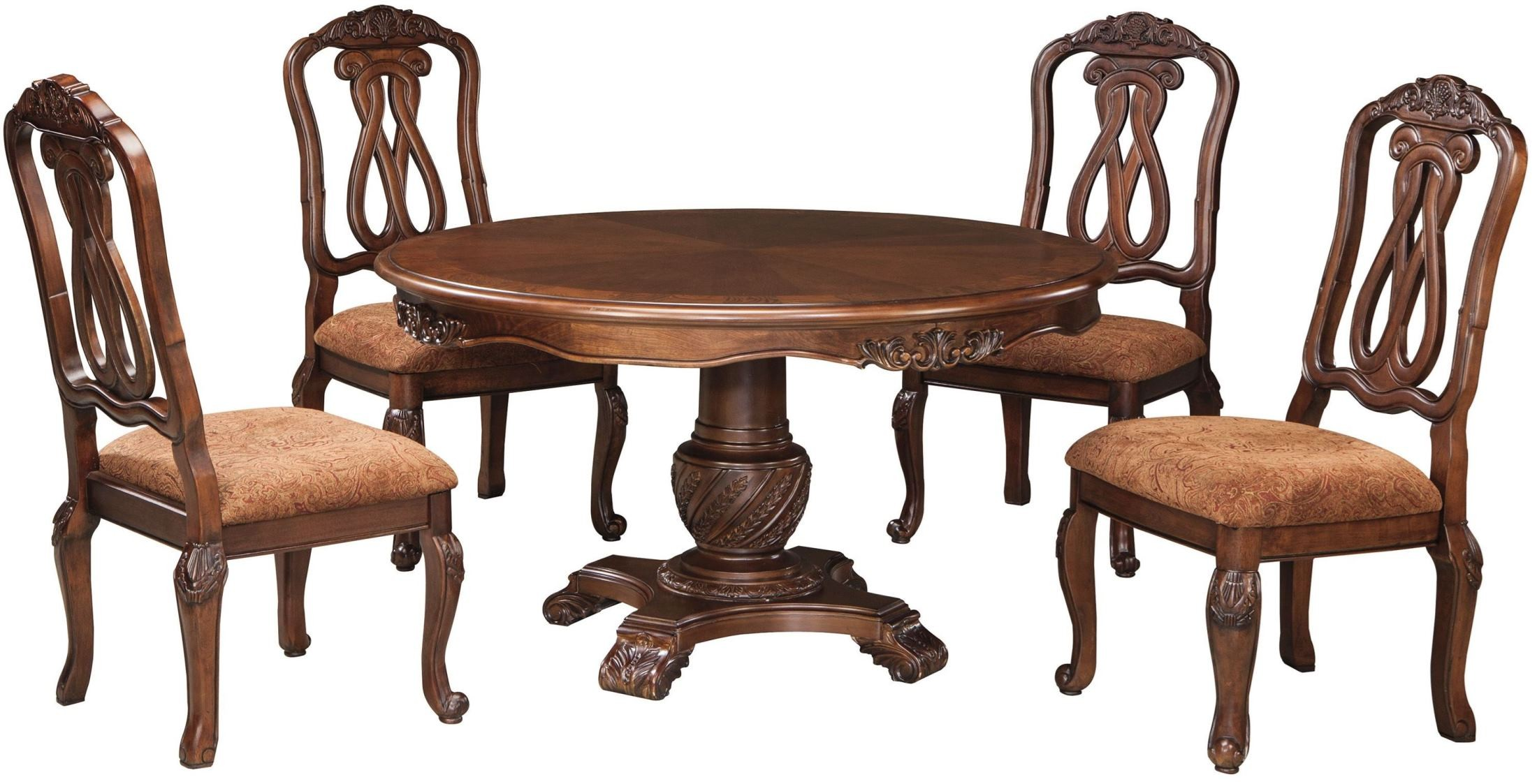 North Shore Round Pedestal Table from Ashley Coleman  : d553 50tb 03 sw from colemanfurniture.com size 2200 x 1123 jpeg 353kB