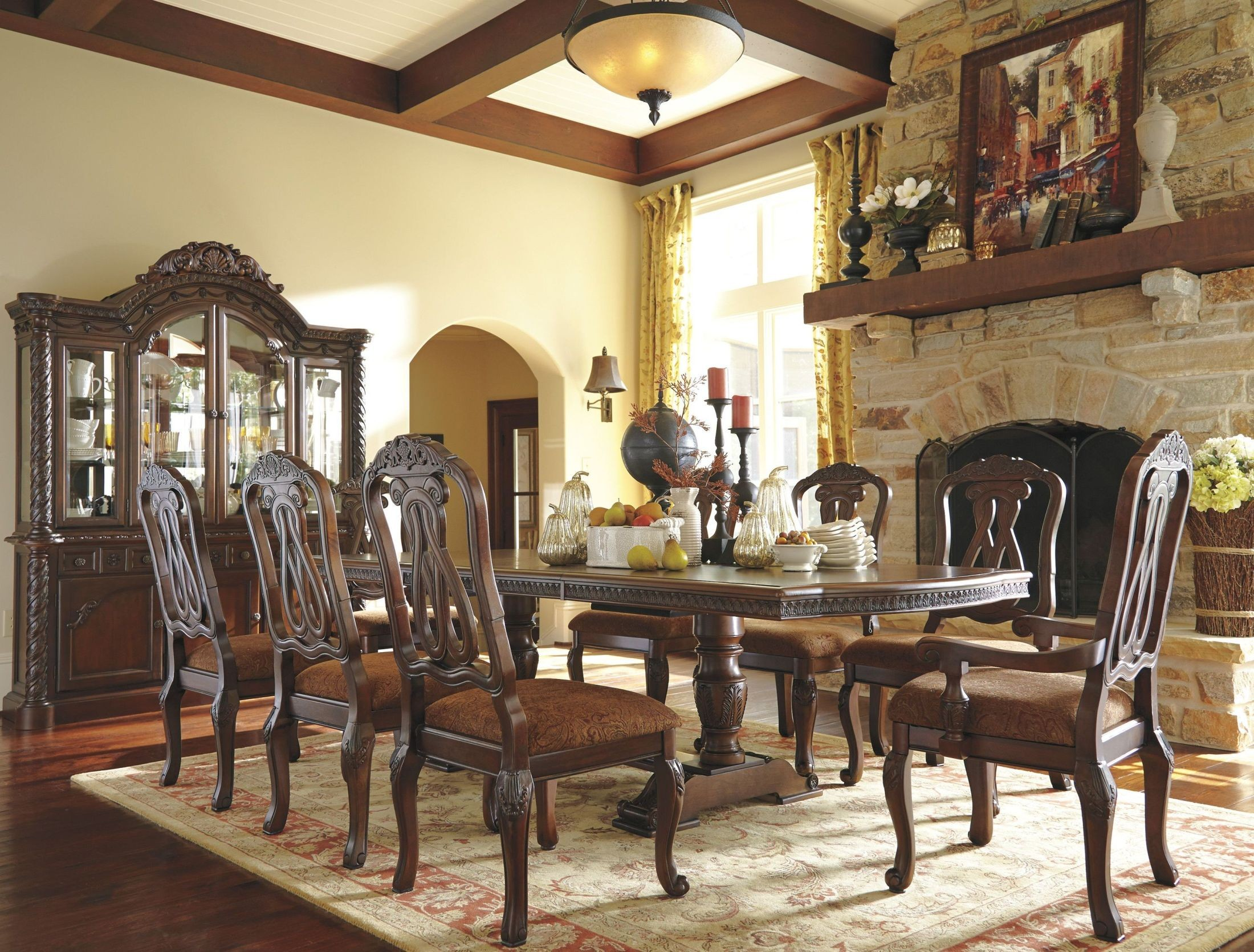 North Shore Double Pedestal Extendable Dining Room Set