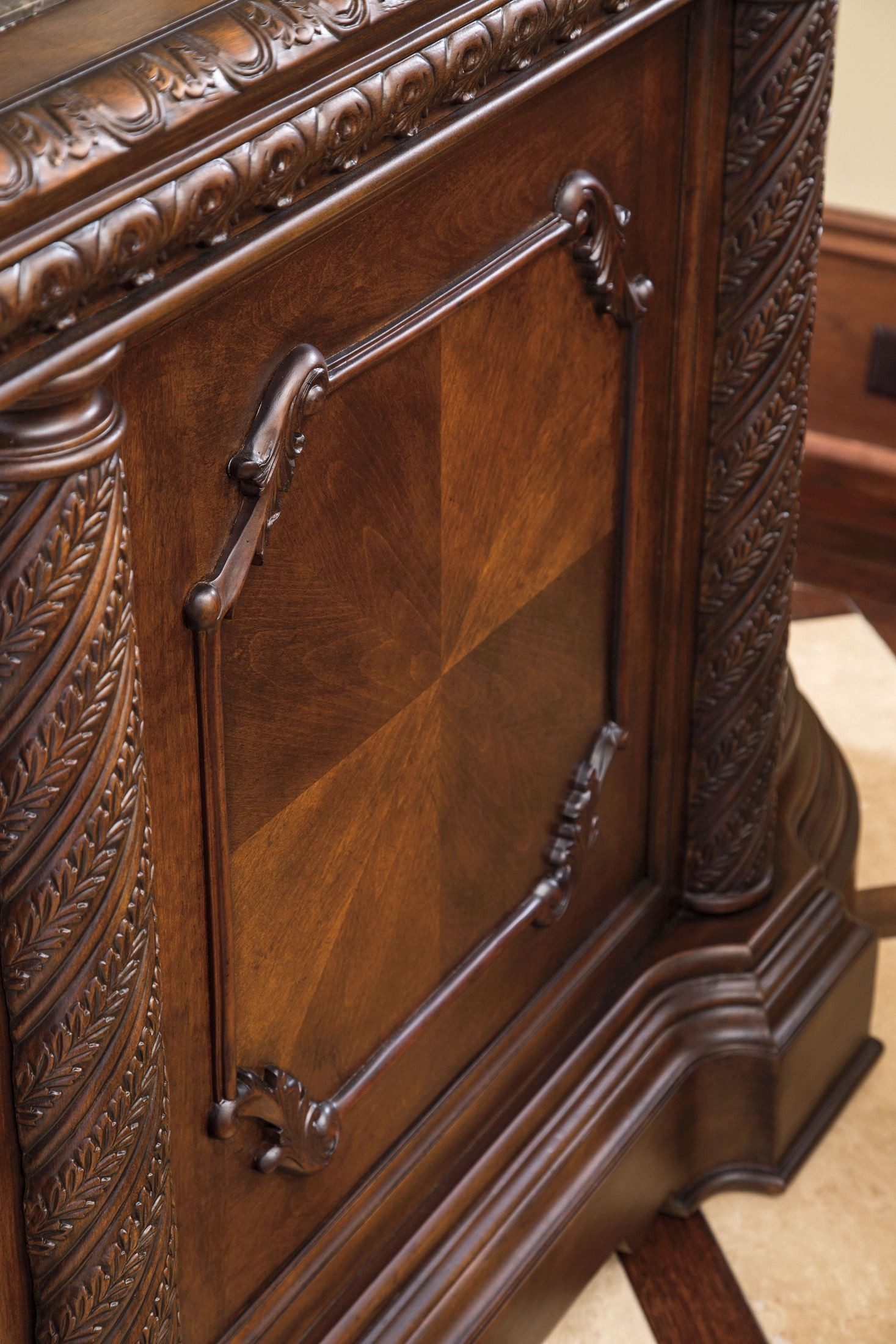 North Shore Marble Top Bar from Ashley (D553-65) | Coleman ...