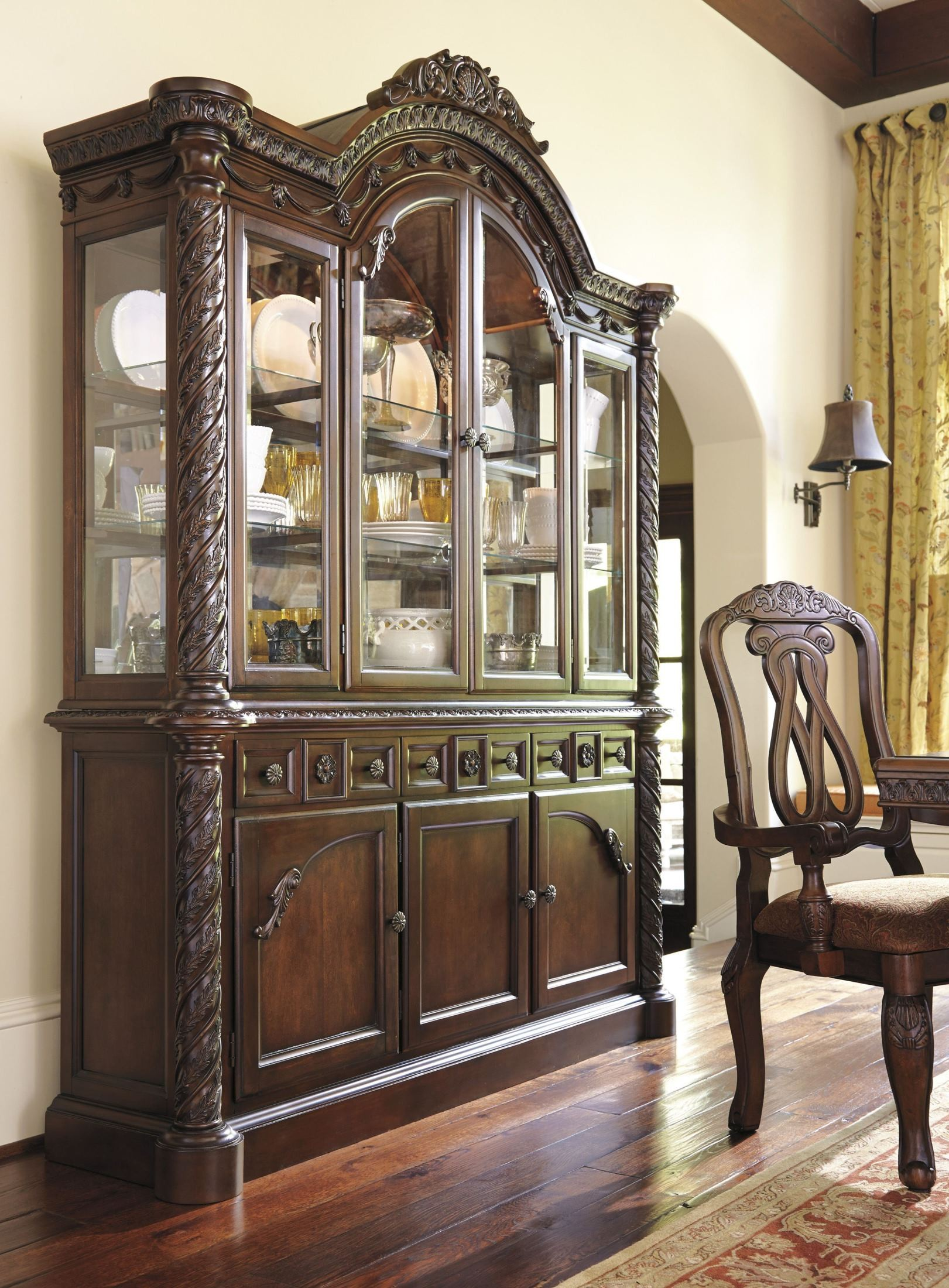 north shore china buffet from ashley d553 80 81 coleman furniture