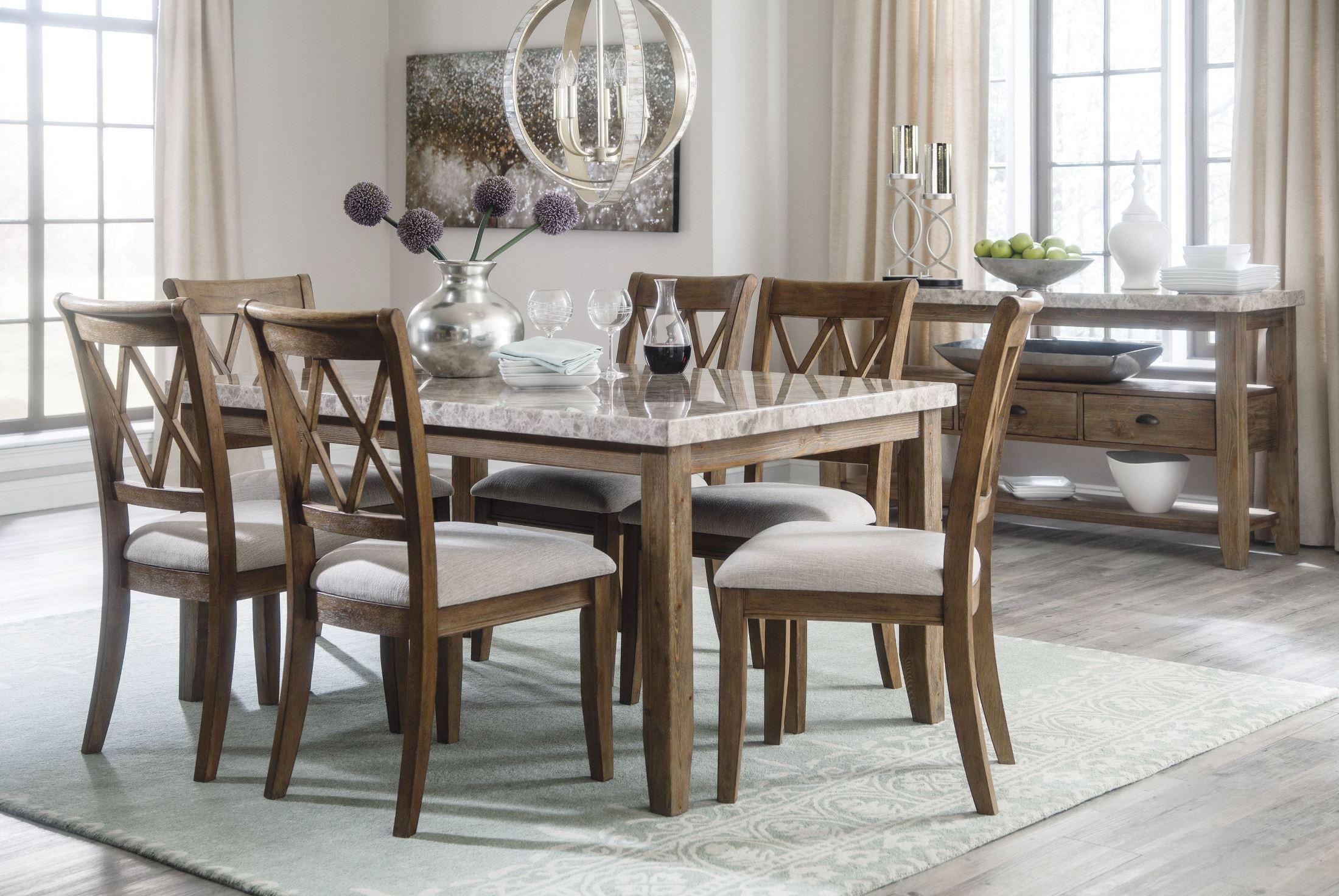 narvilla two tone rectangular dining room set d559 25 ashley. Black Bedroom Furniture Sets. Home Design Ideas