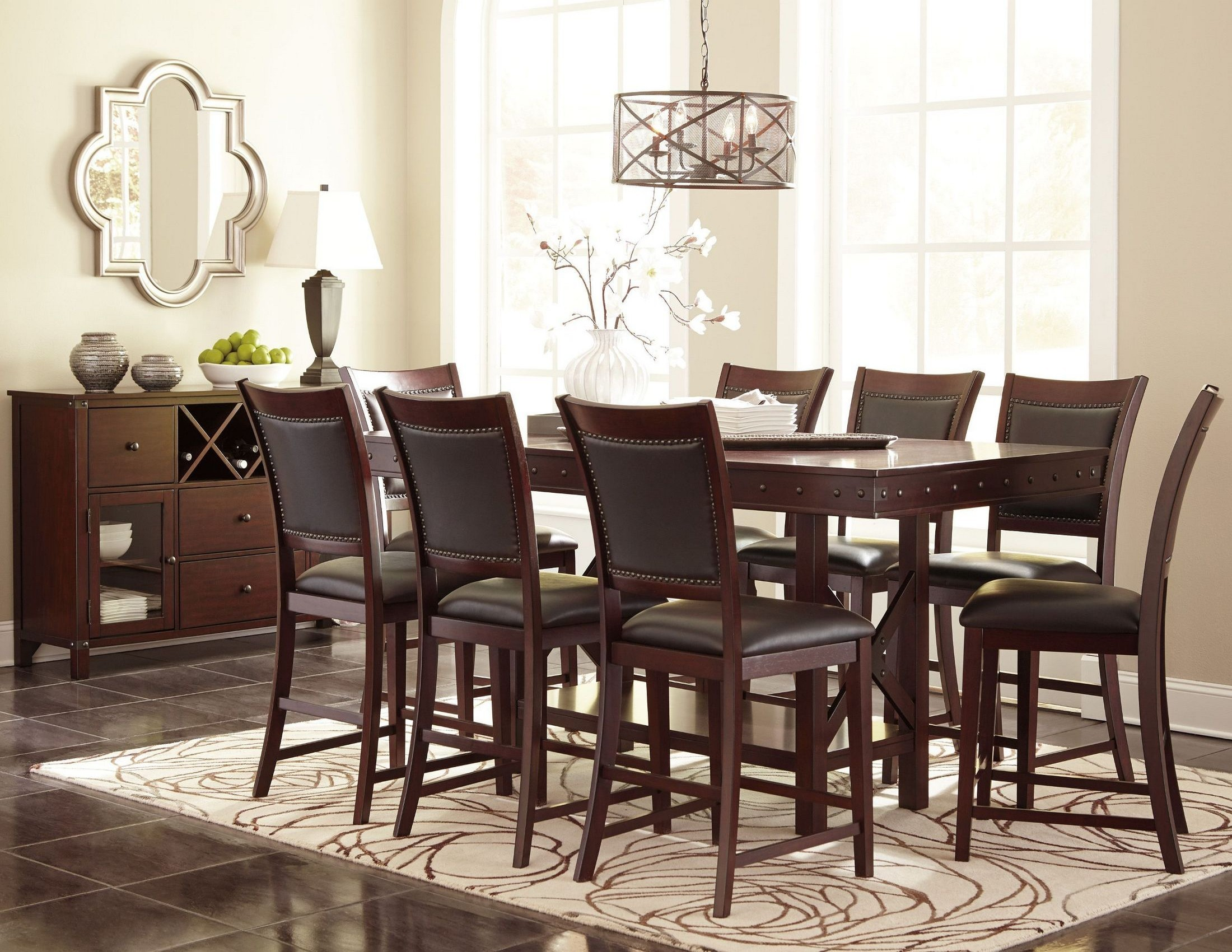 Collenburg Brown Extendable Counter Height Dining Room Set