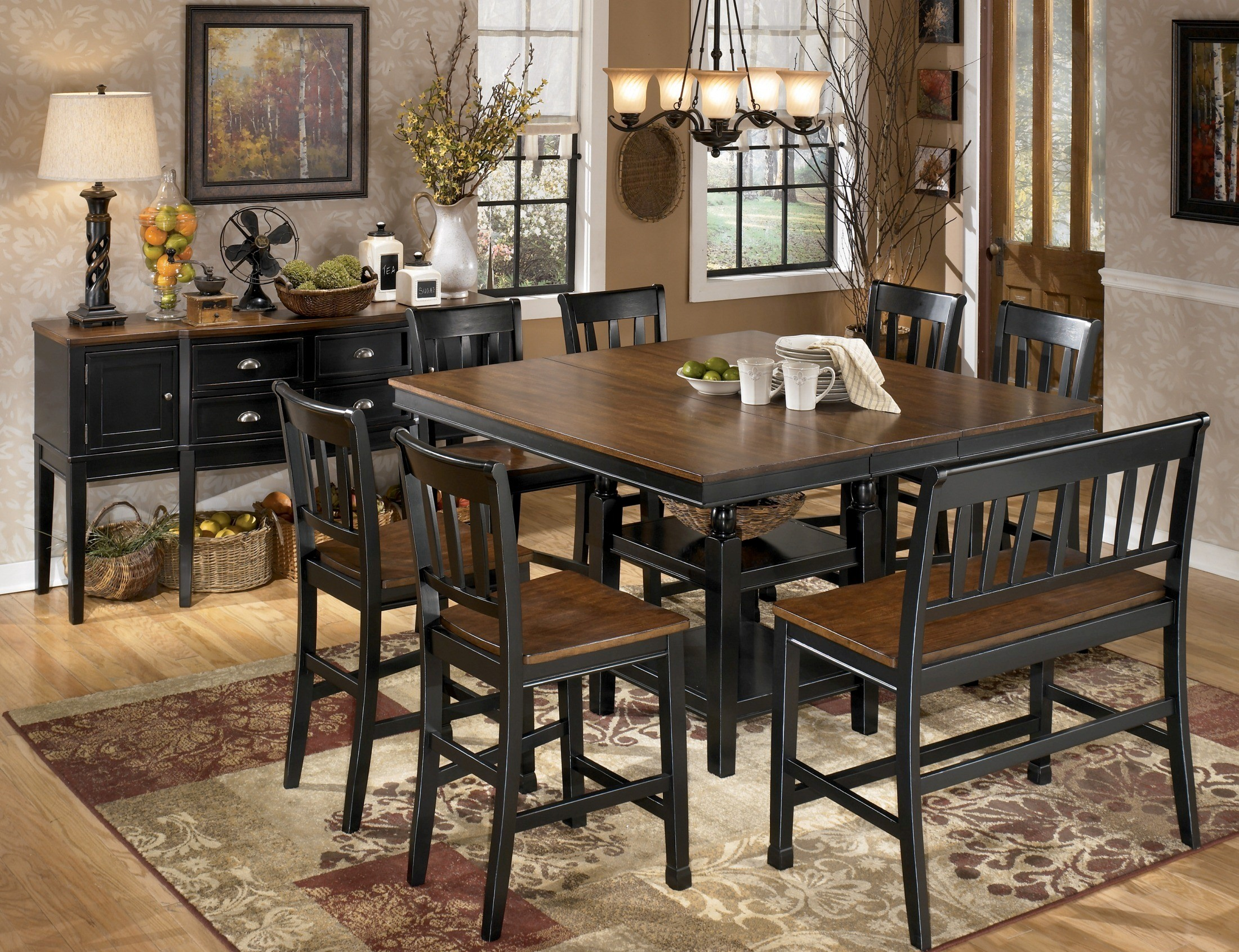 owingsville square counter height extendable dining room set from 2298890