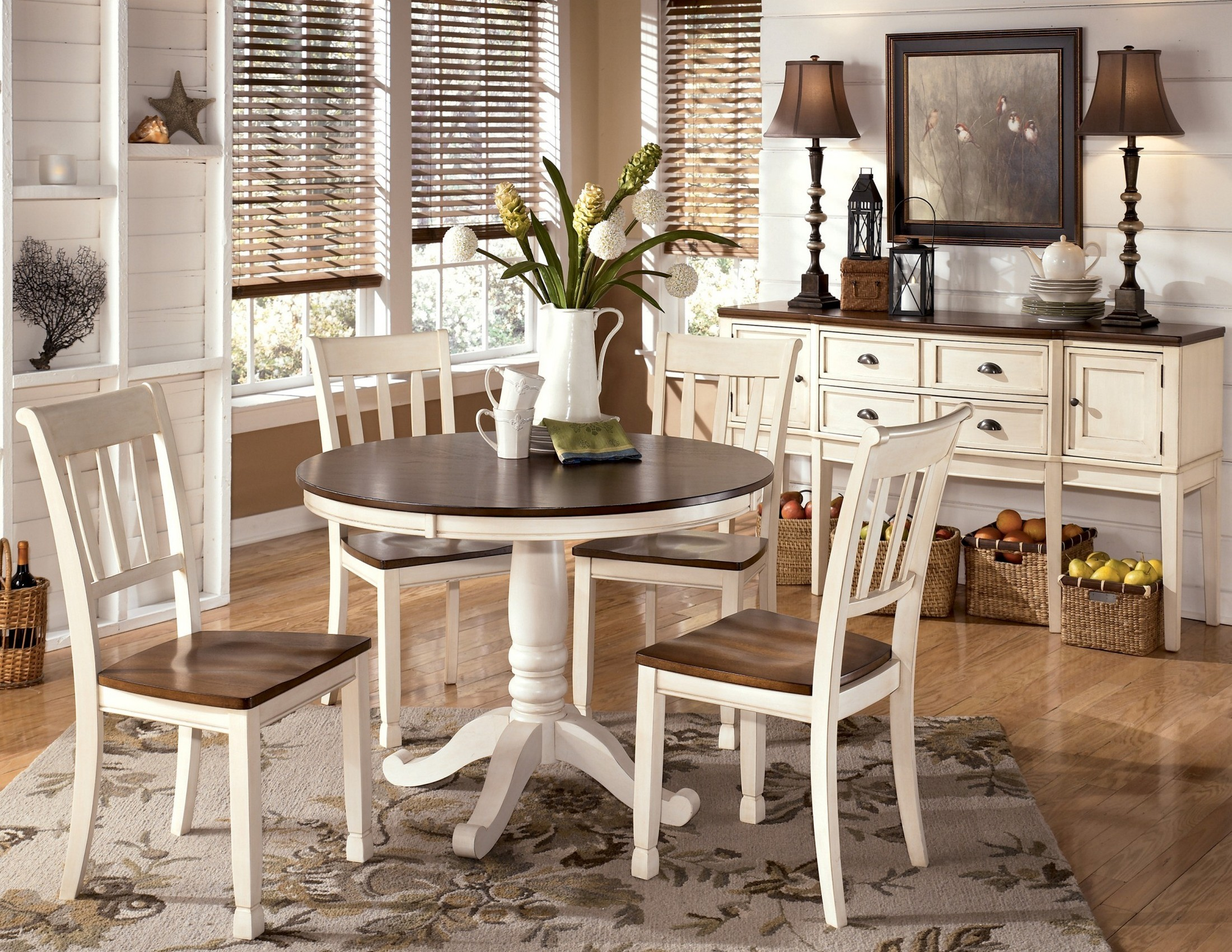 Whitesburg Round Dining Room Set From Ashley D583 15b 15t