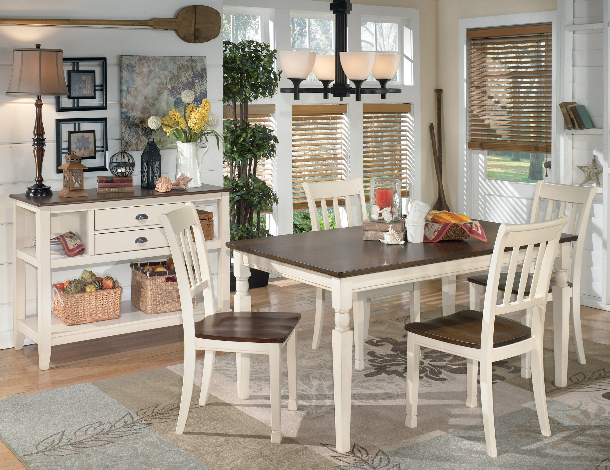 ashley dining room sets whitesburg rectangular dining room set from ashley d583 25 coleman furniture 1539