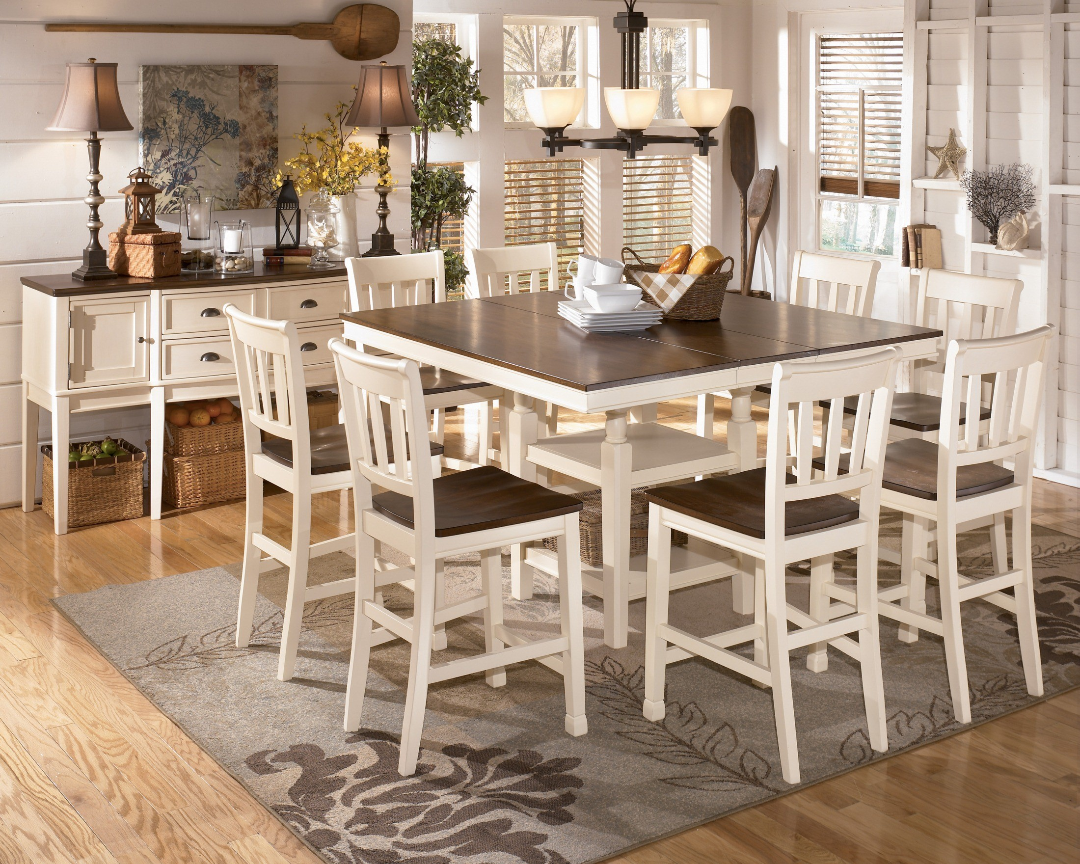 Whitesburg Square Counter Extendable Dining Room Set From