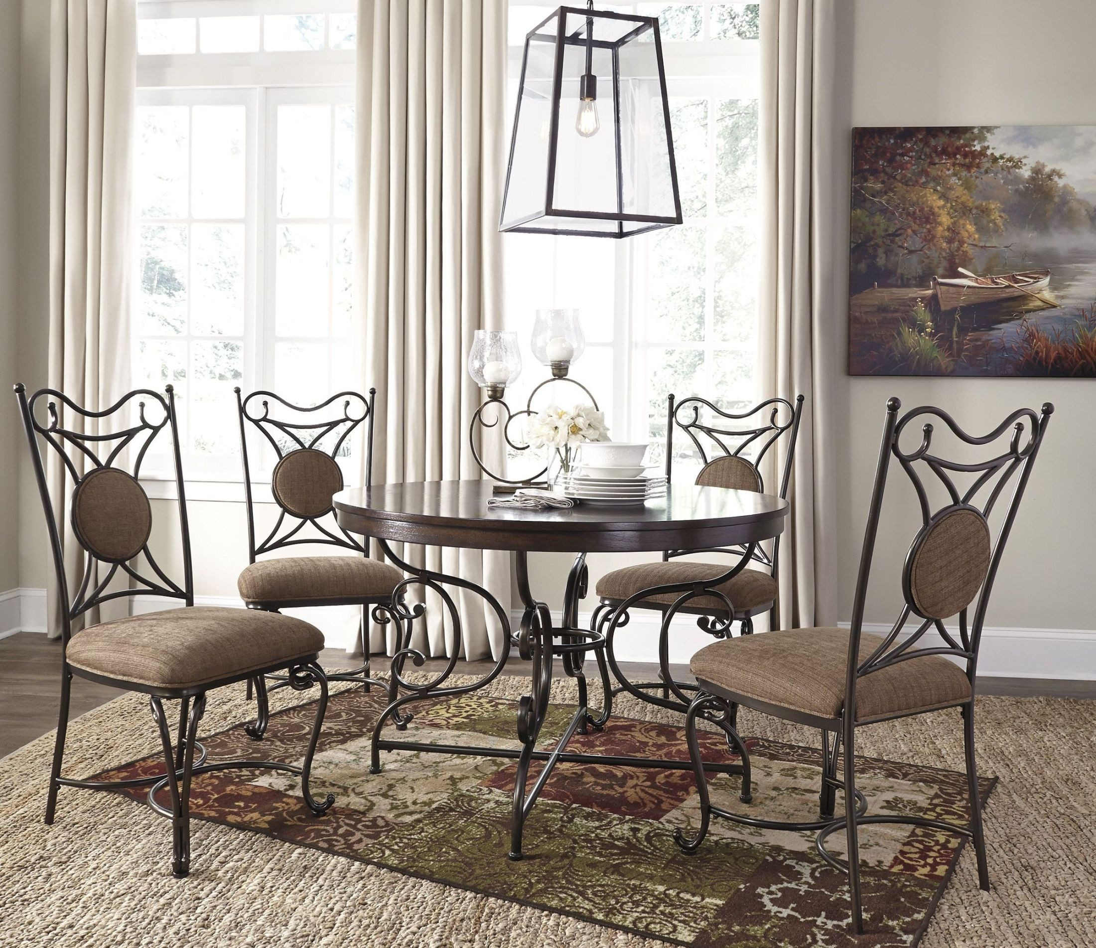 Round Dining Room Sets: Brulind Brown Round Dining Room Set From Ashley