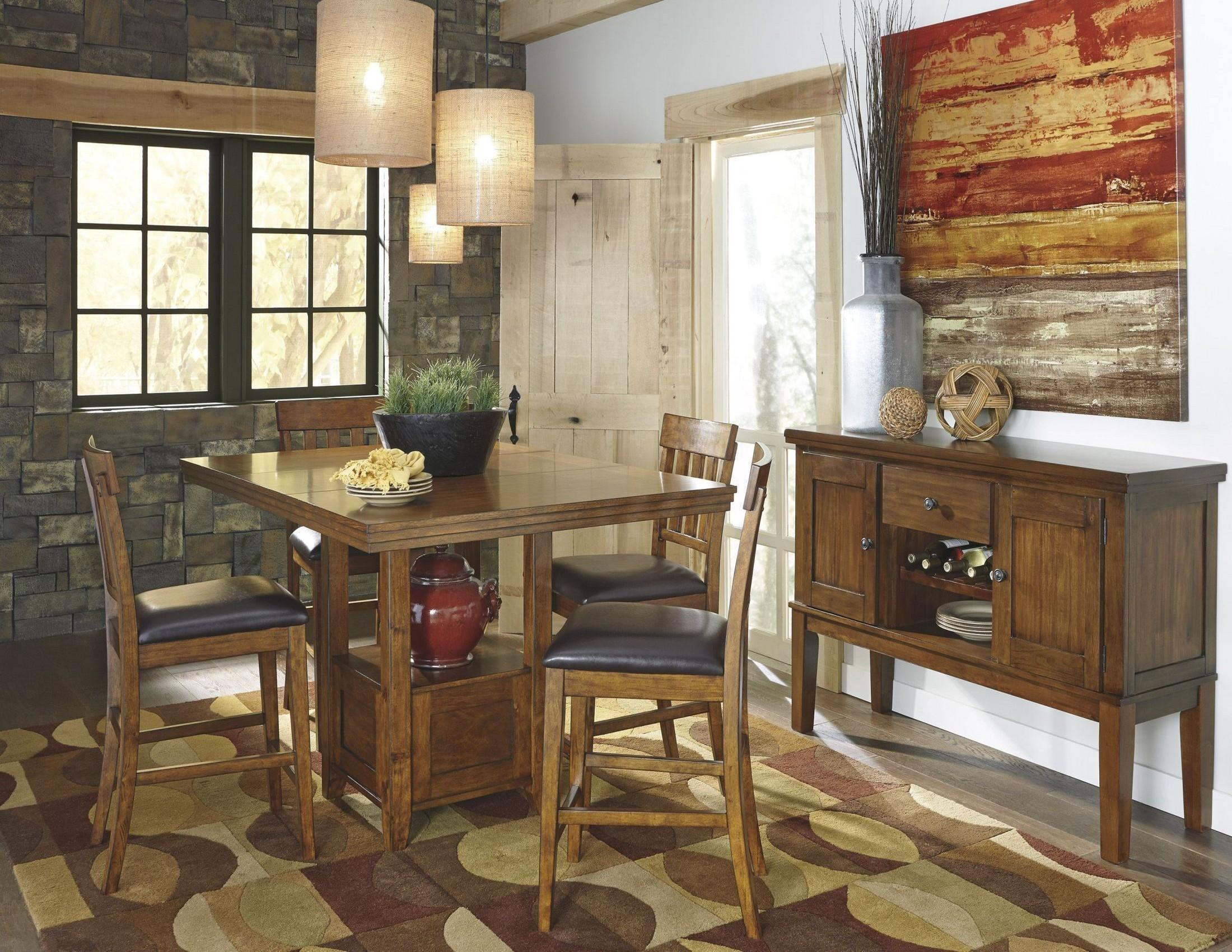 Ralene Rectangular Extendable Counter Dining Room Set From