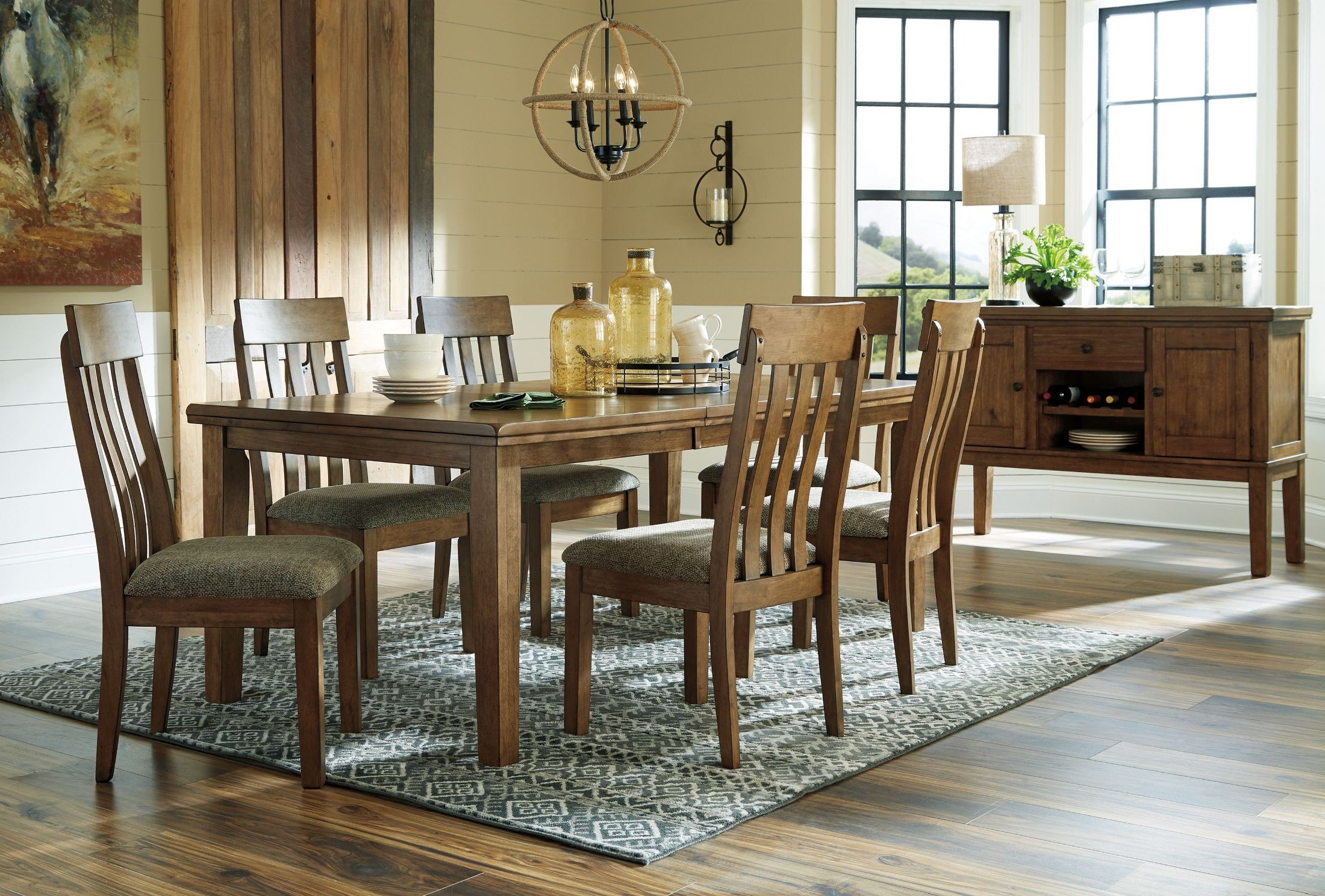 Flaybern Brown Butterfly Extendable Dining Room Set from Ashley ...