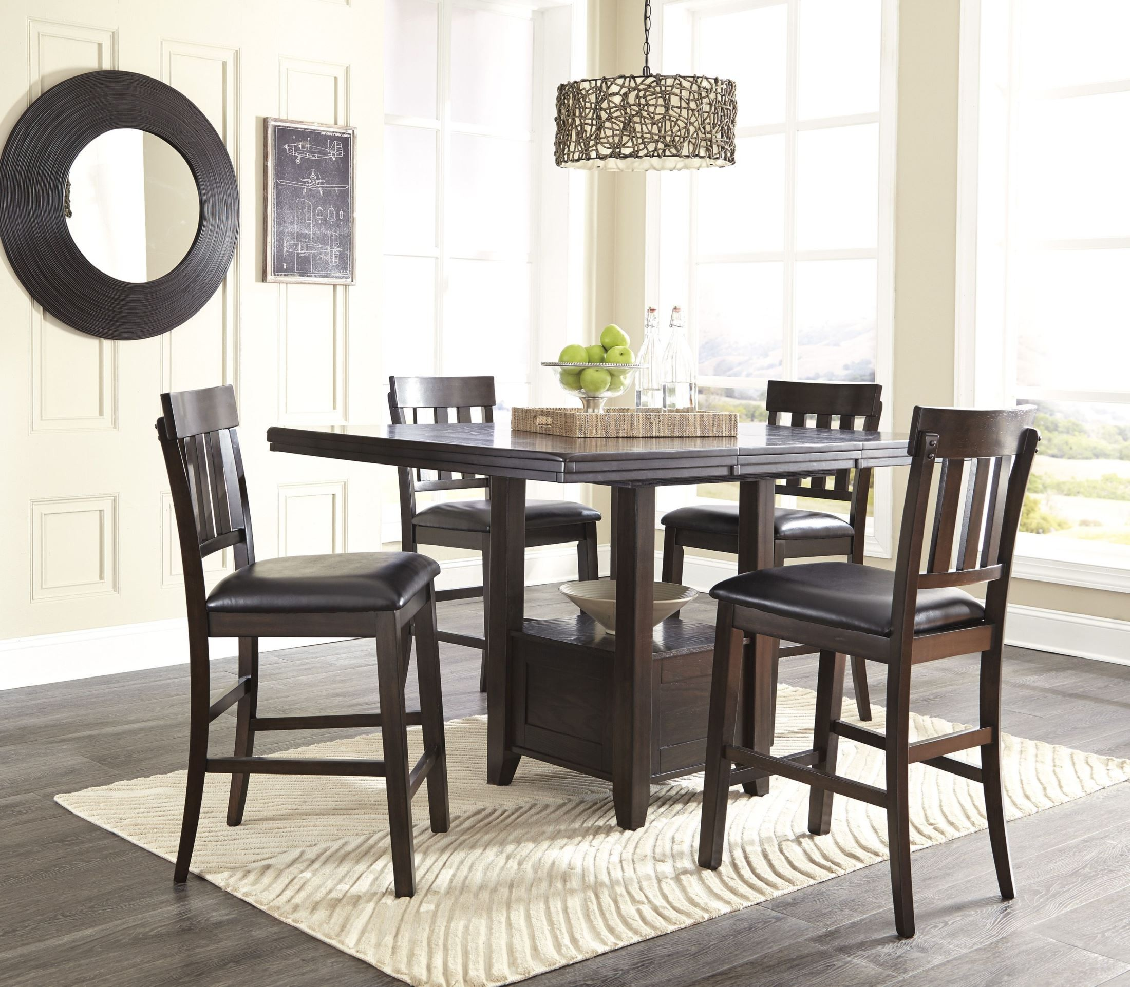 ... Counter Height Dining Table · 899672. 899675. 899673. 899674 & Haddigan Dark Brown Rectangular Extendable Counter Height Dining ...