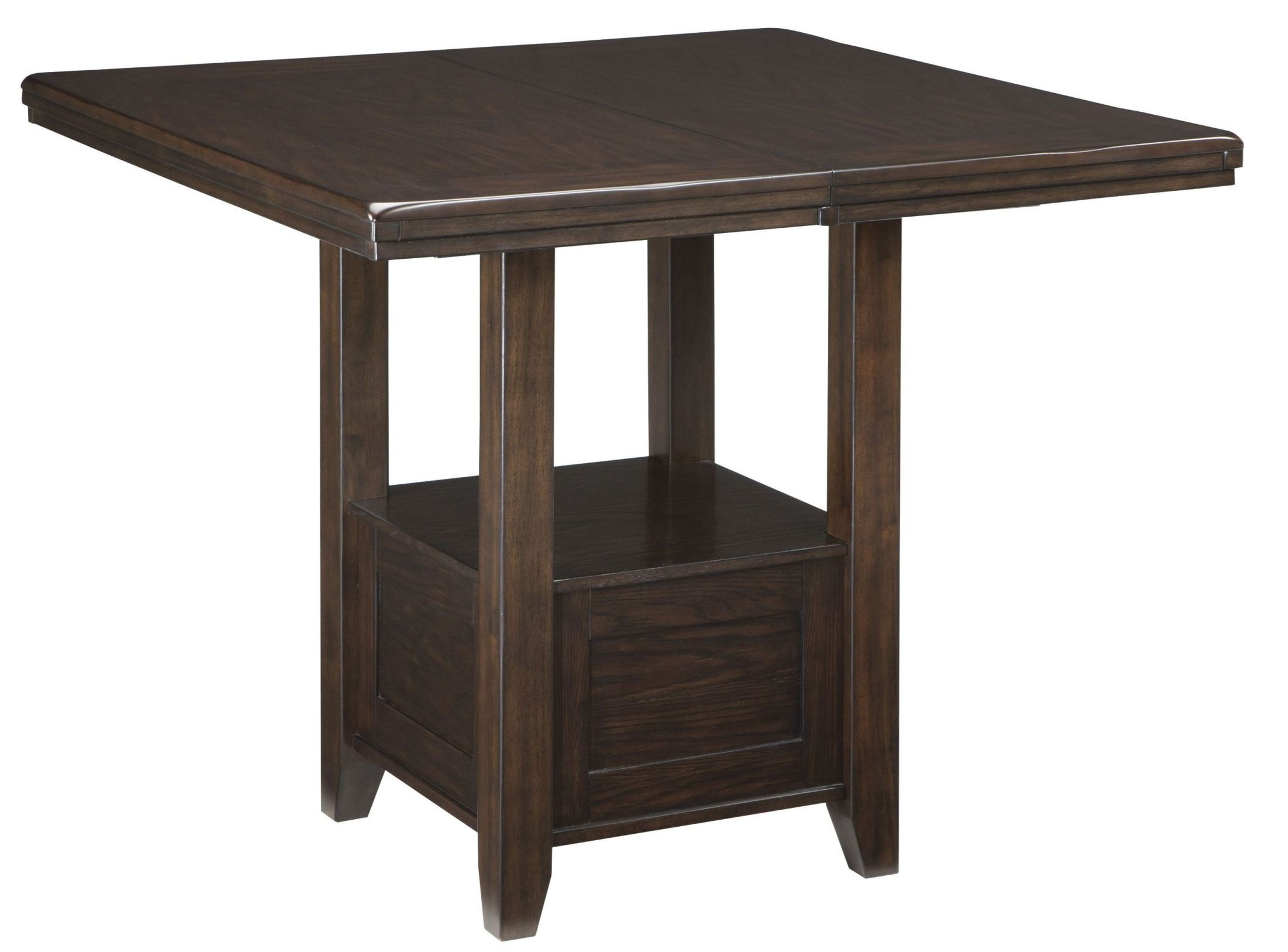 Haddigan dark brown rectangular extendable counter height for Tall breakfast table