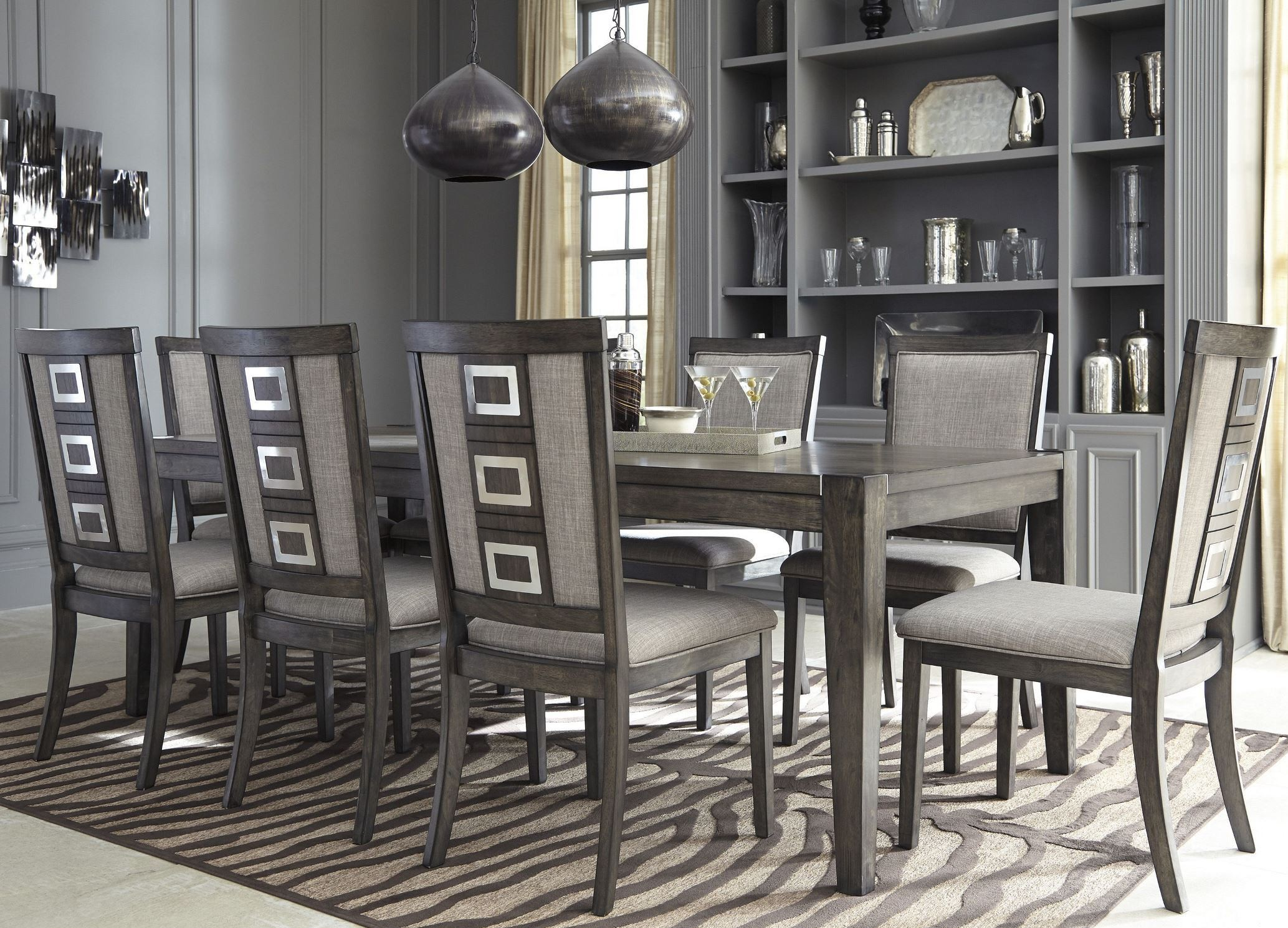 Chadoni gray dining room server from ashley coleman furniture - Dining room server furniture ...