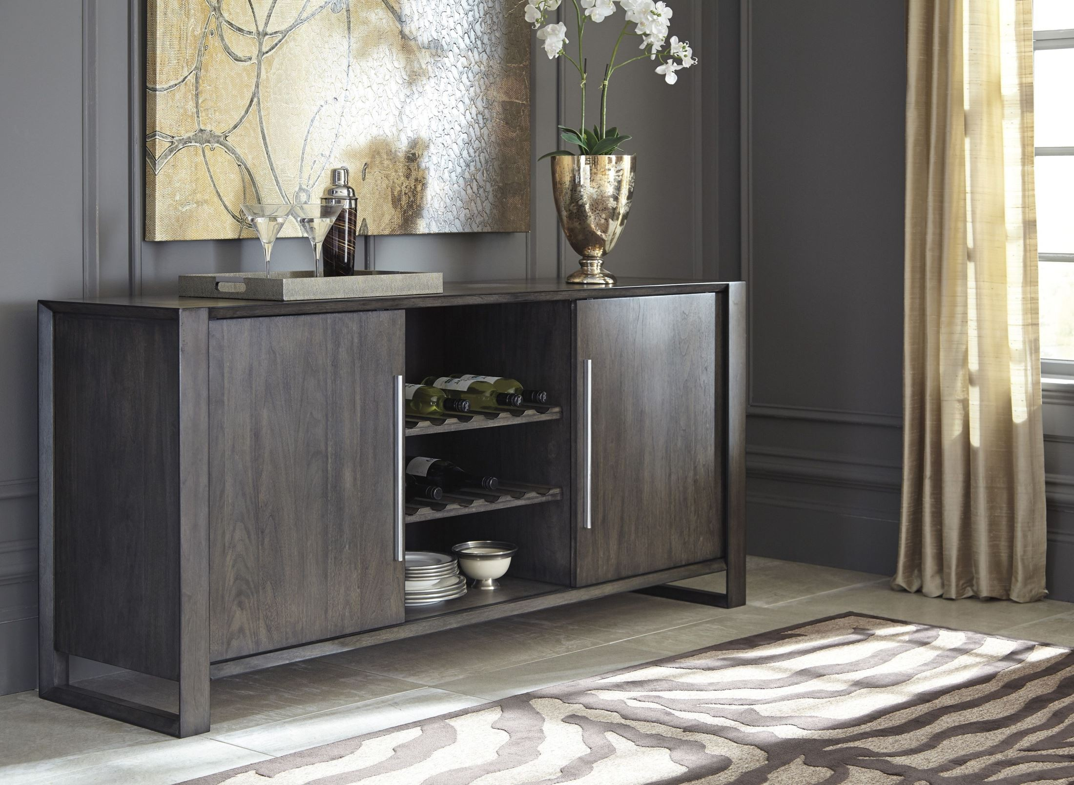 Chadoni Gray Dining Room Server From Ashley Coleman