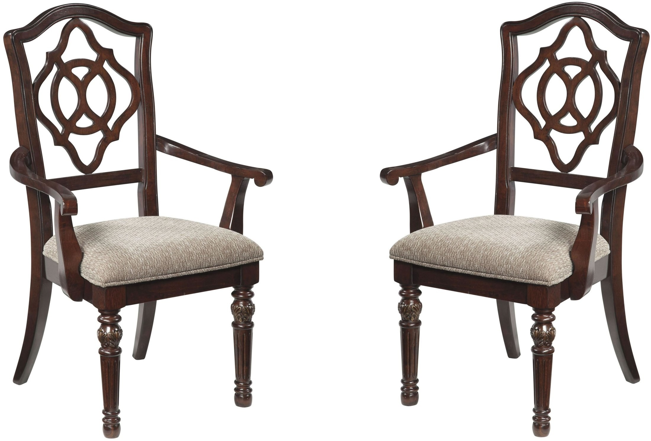 Leahlyn Brown Dining Upholstered Arm Chair Set Of 2 From
