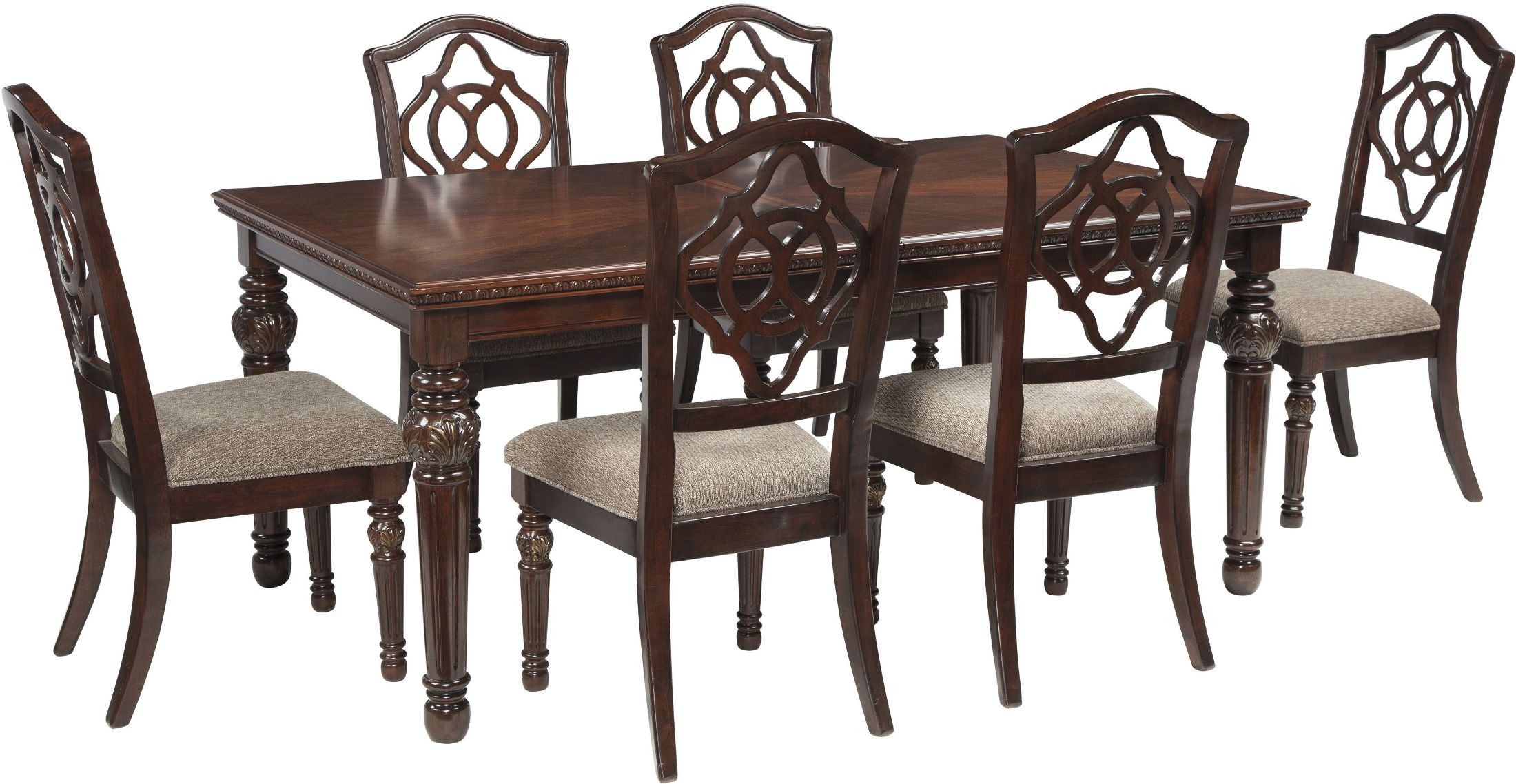 Leahlyn Brown Extendable Rectangular Dining Room Set From