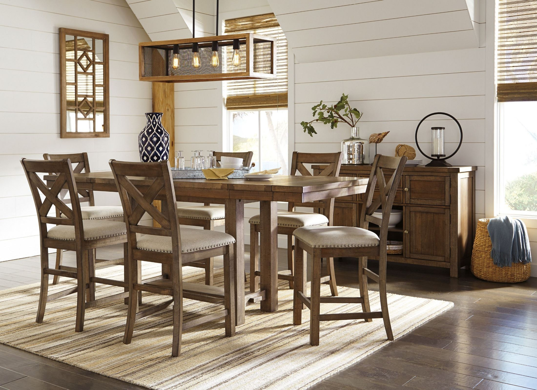 Moriville Gray Extendable Counter Height Dining Table From Ashley Coleman Furniture