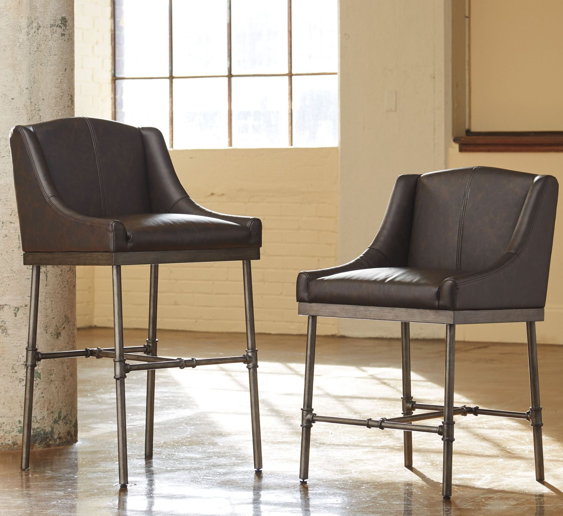 Starmore Brown Tall Upholstered Barstool Set Of 2 From