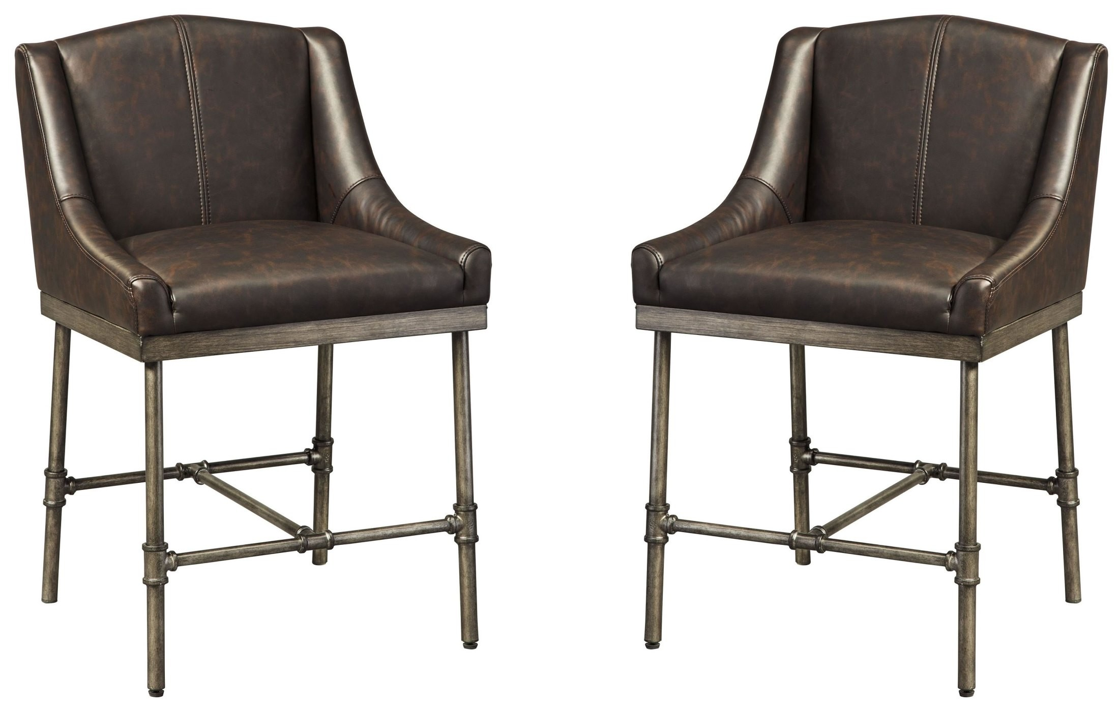 Starmore Brown Upholstered Counter Stool Set Of 2 From