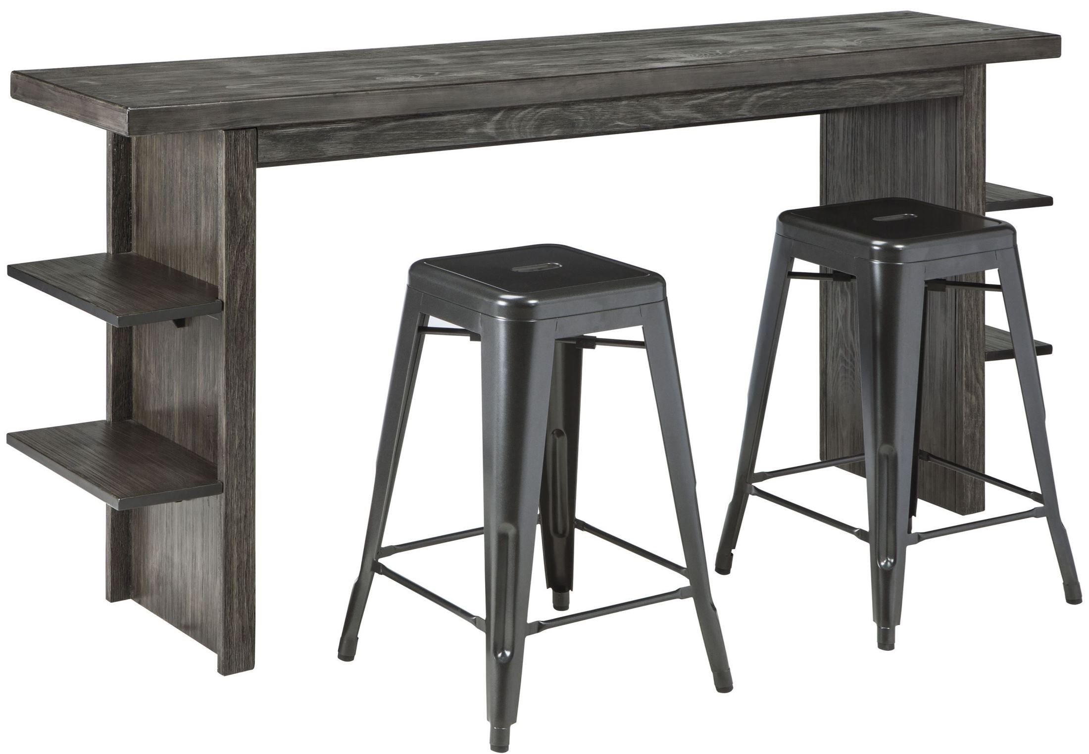 Lamoille Dark Gray Long Counter Height Dining Room Set
