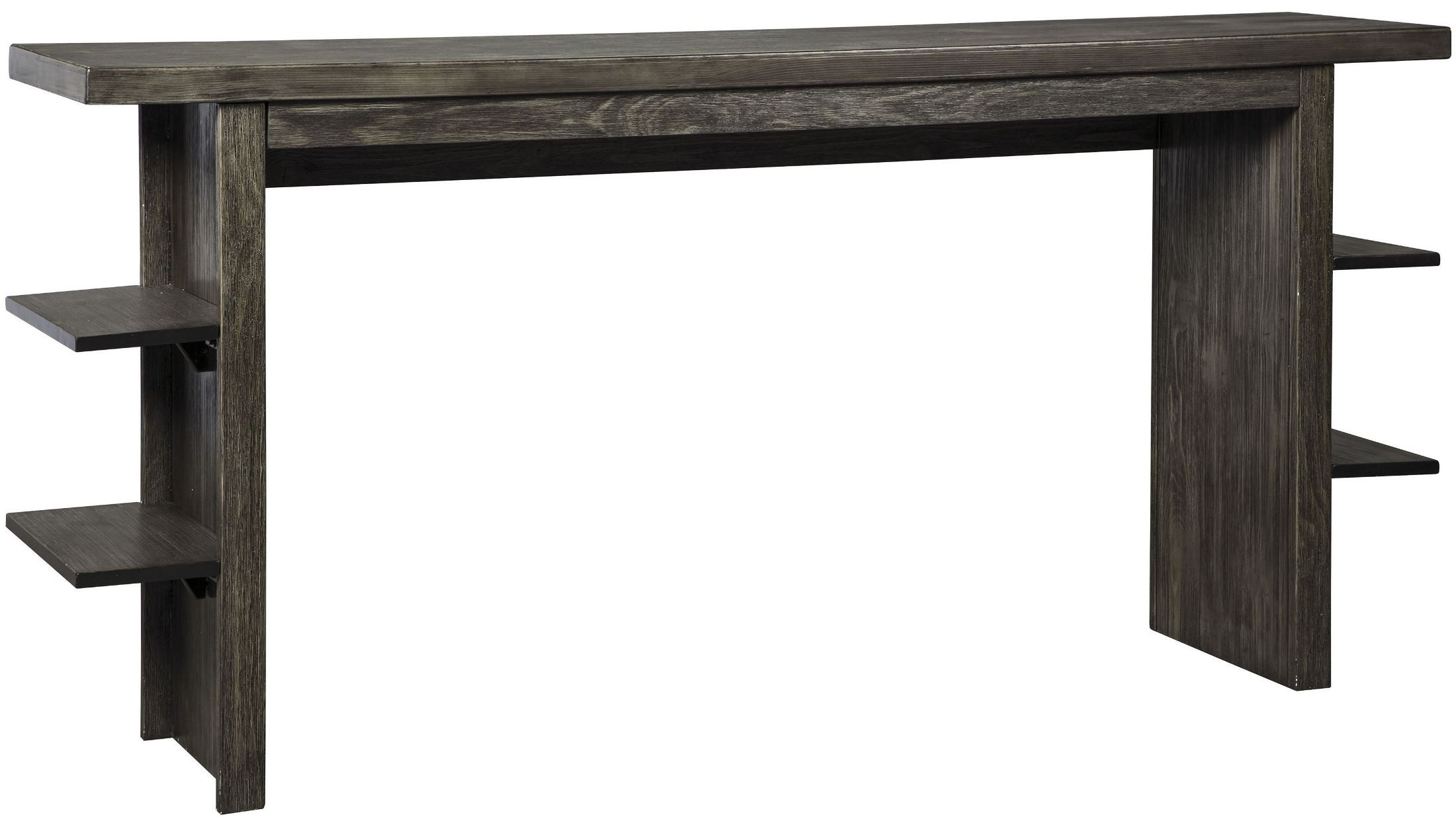 Lamoille Dark Gray Long Counter Height Dining Table From