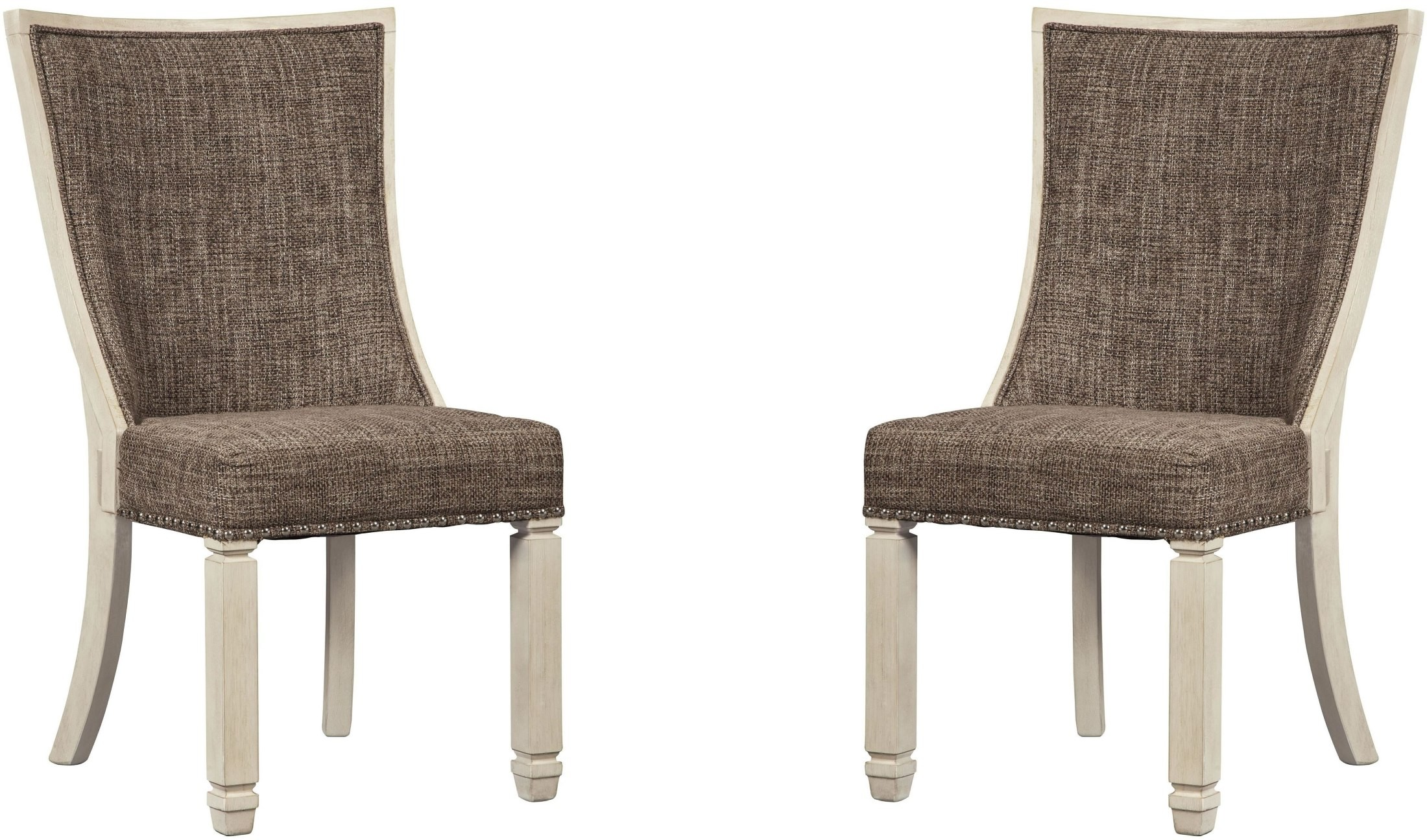Bolanburg Two Tone Dining Upholstered Side Chair D647 02