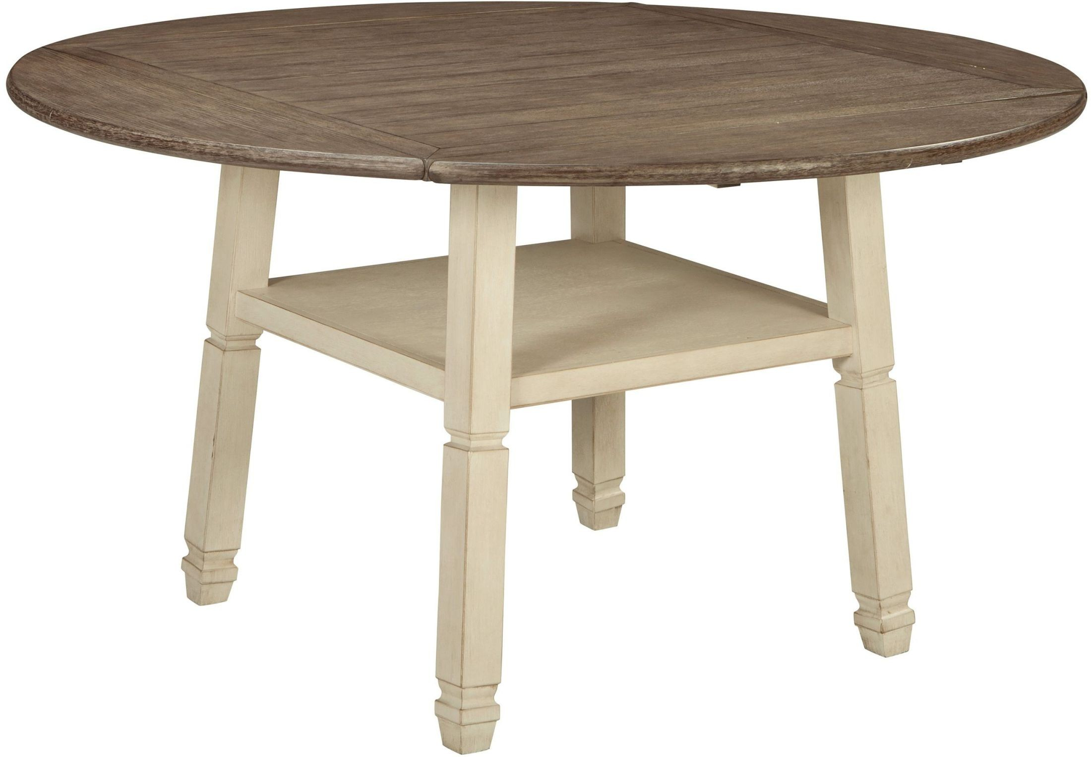 Counter Height Dining Tables: Bolanburg Two-tone Round Counter Height Dining Table From