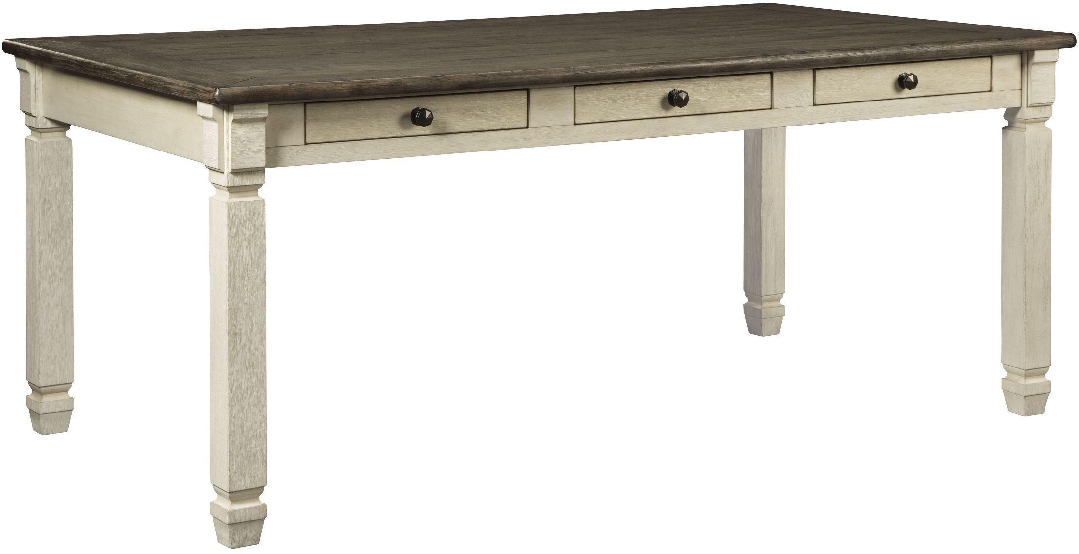 Bolanburg White And Gray Rectangular Dining Table, D647-25