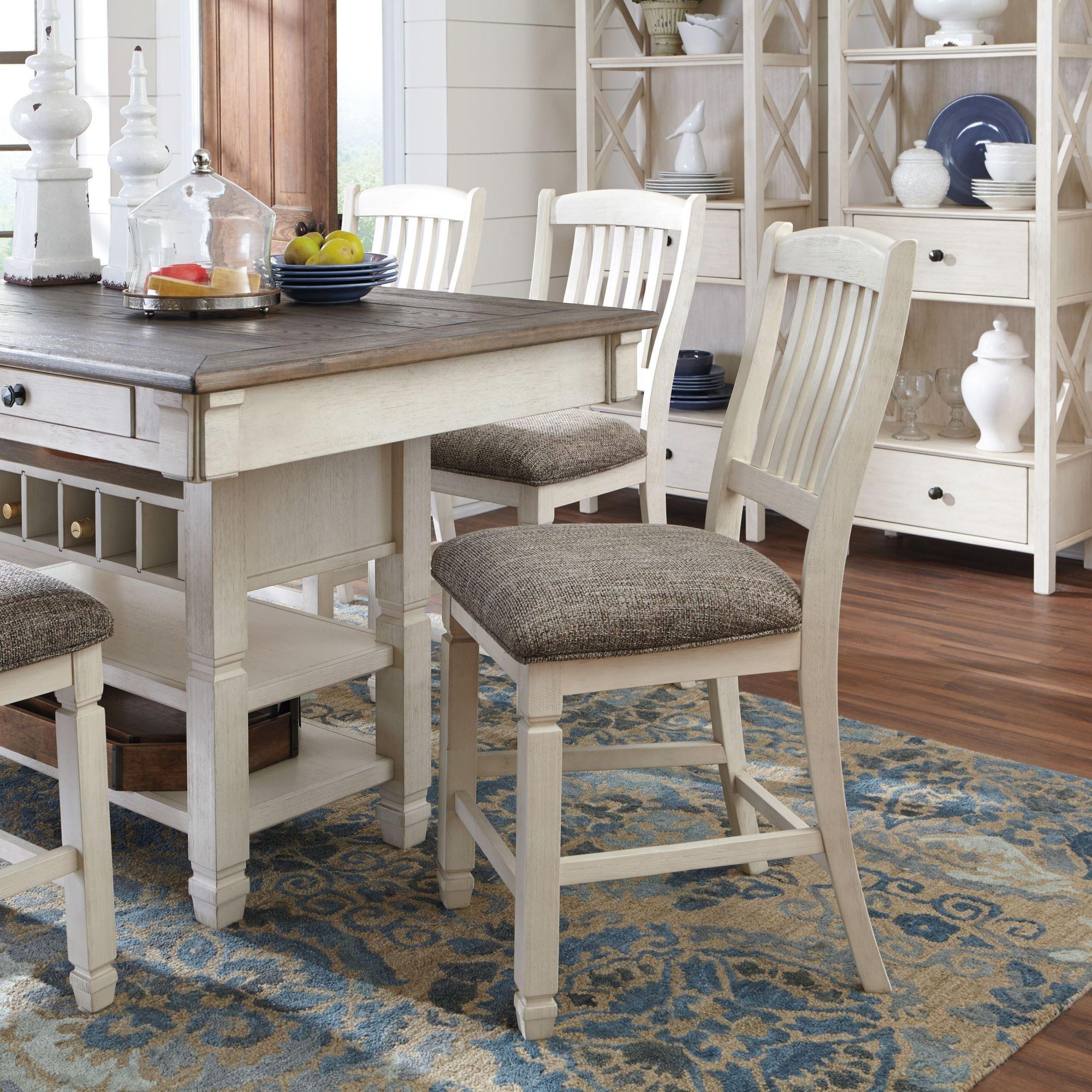 Bolanburg White And Gray Rectangular Dining Room Counter