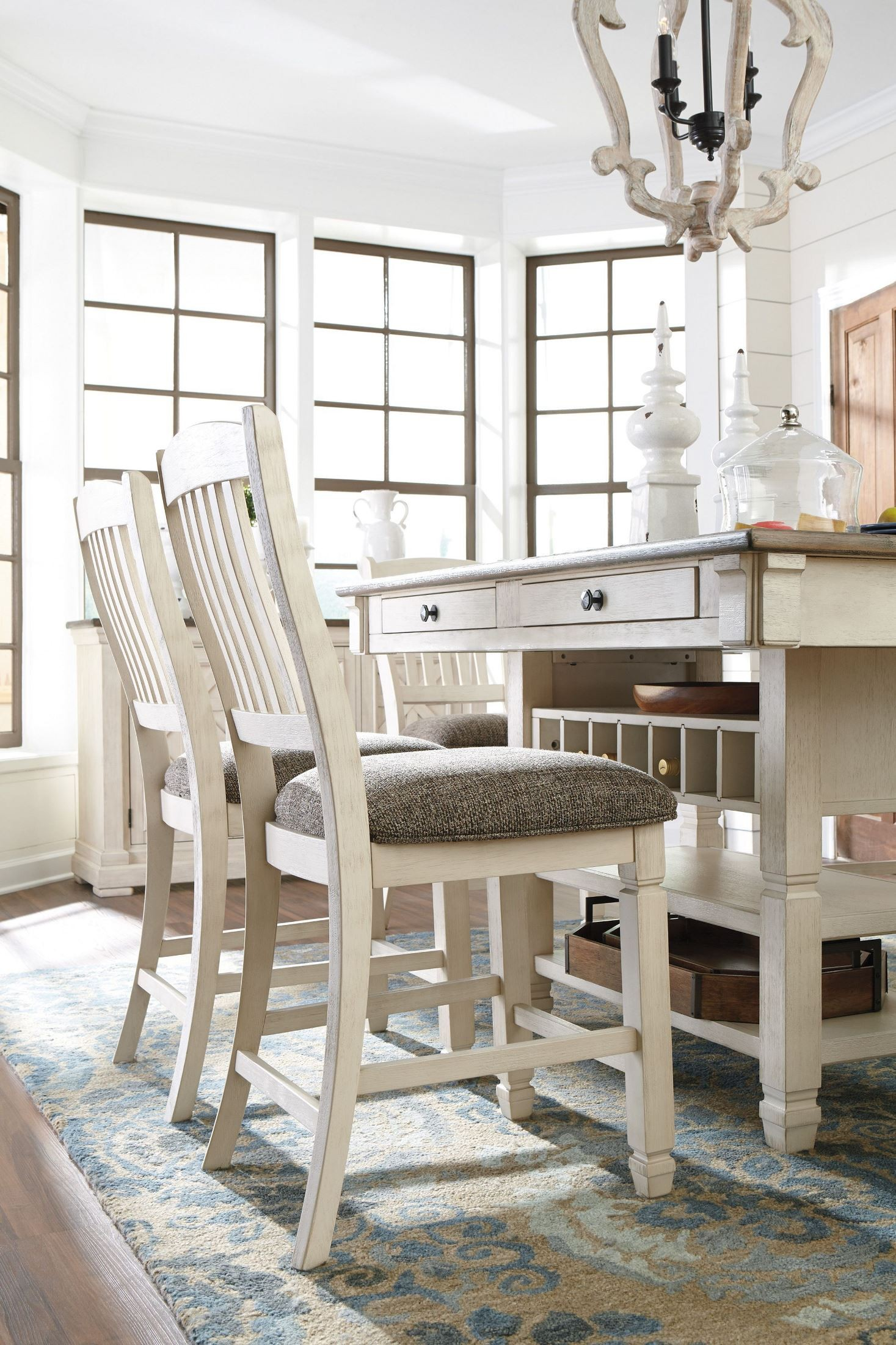 a8a00139a68 Bolanburg White and Gray Rectangular Counter Height Dining Table from Ashley