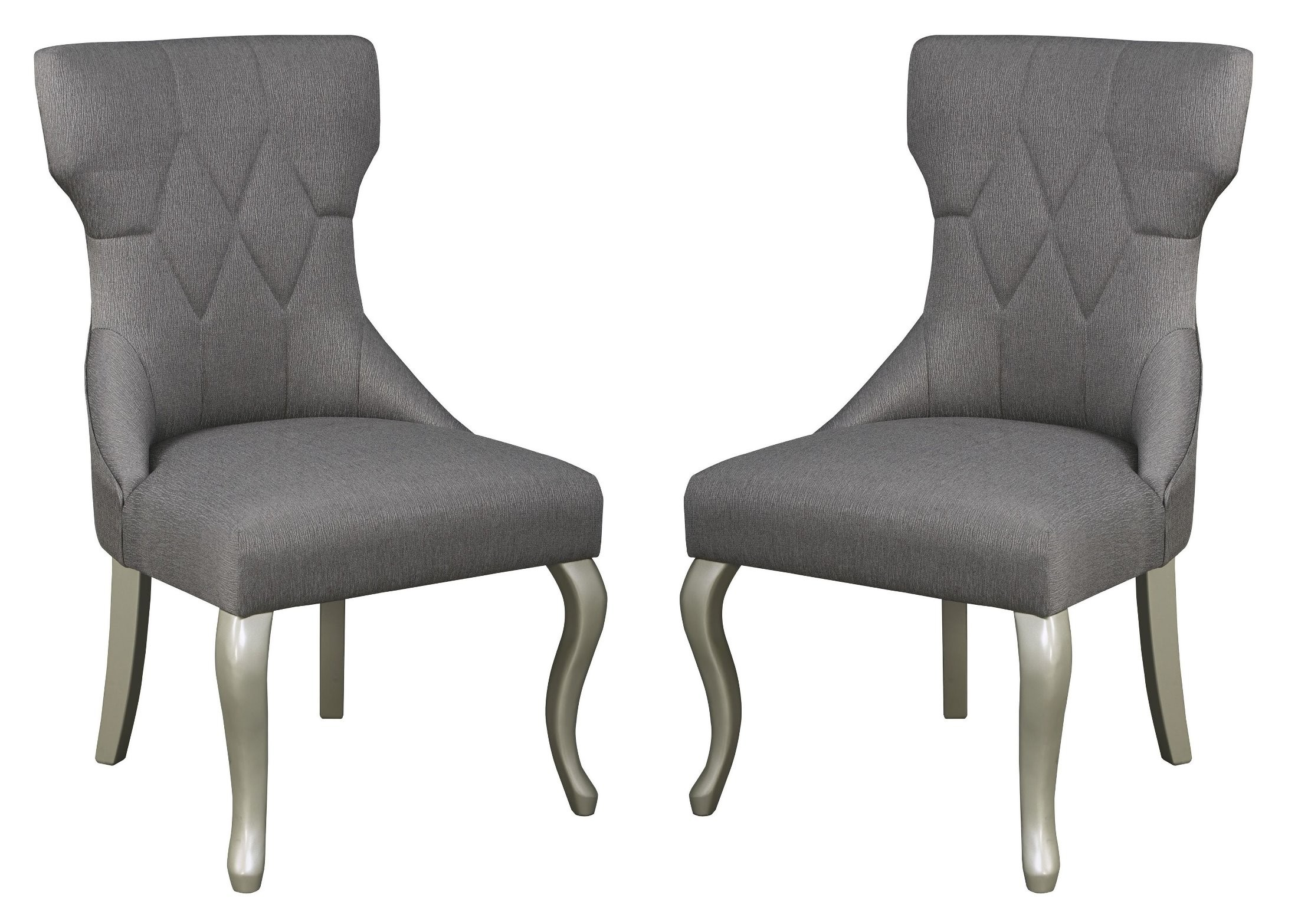 Captivating Coralayne Dark Gray Dining Upholstered Side Chair Set Of 2