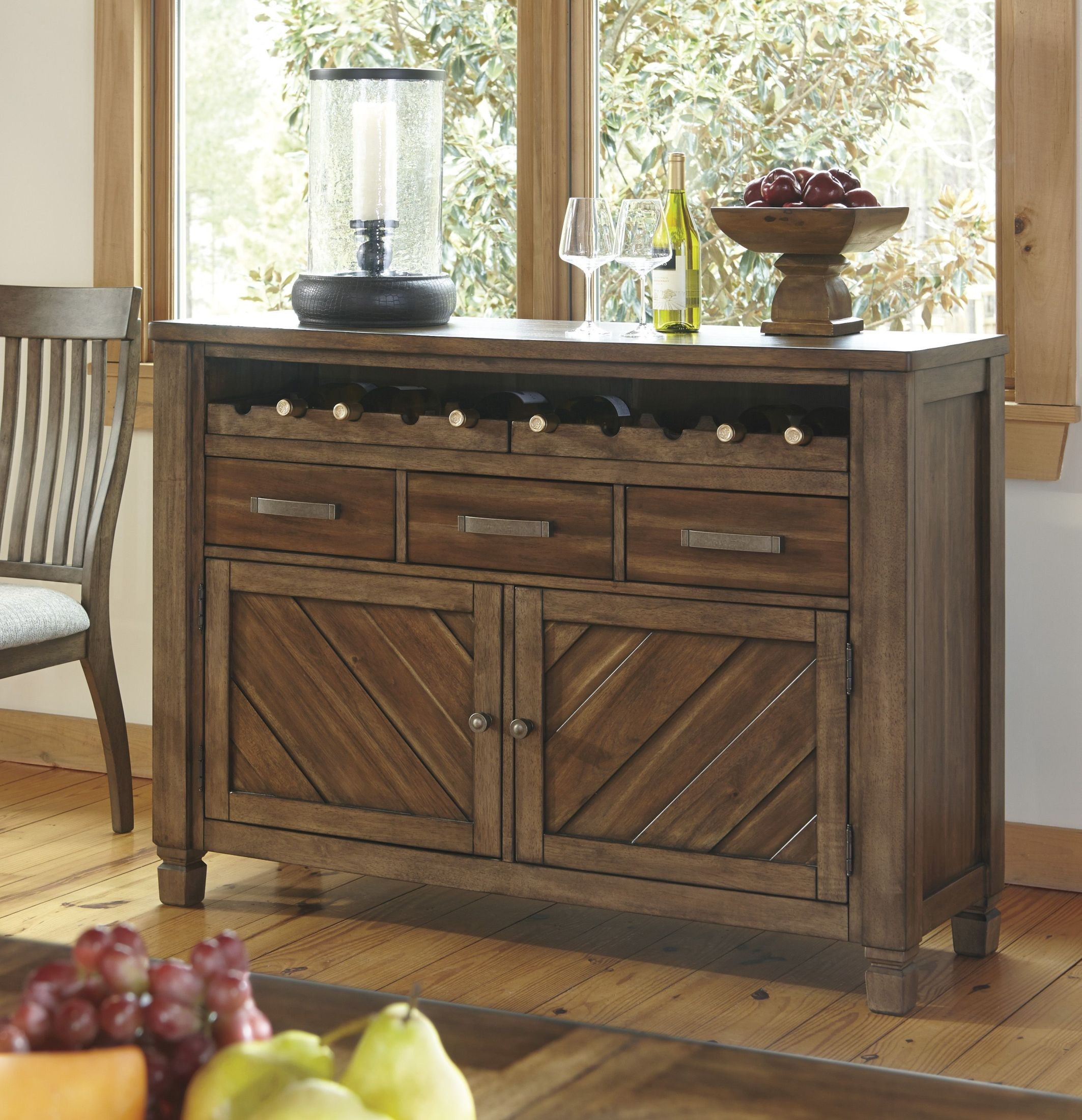colestad light brown dining room server from ashley coleman