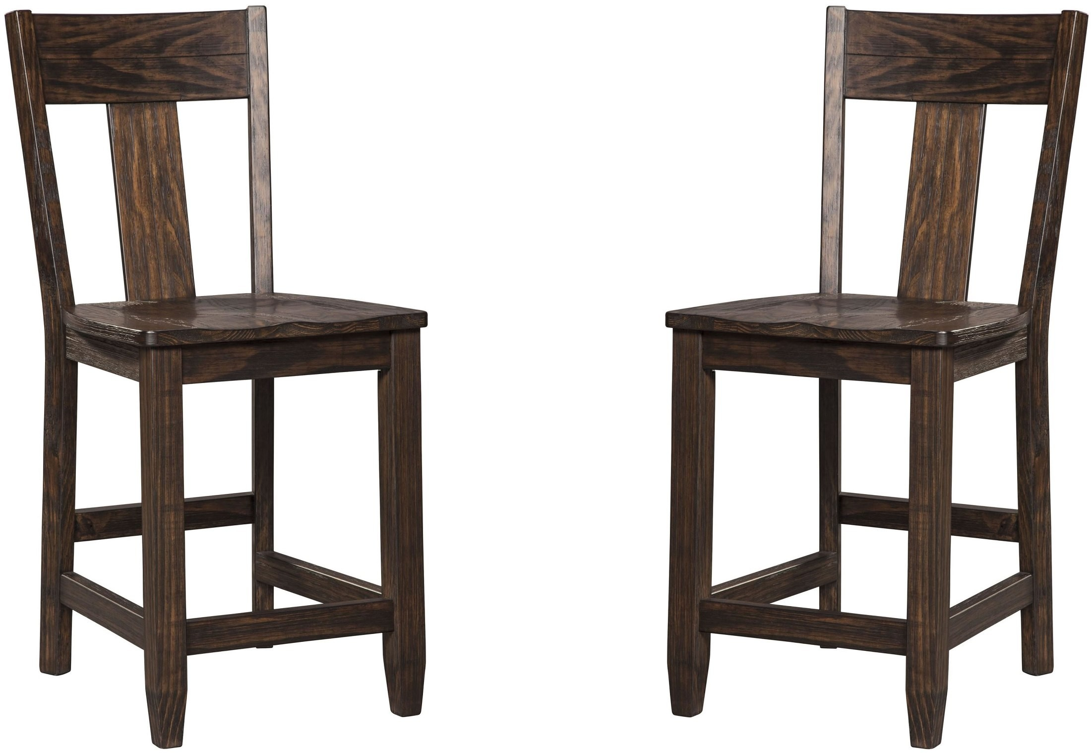 Trudell Dark Brown Counter Stool Set Of 2 From Ashley